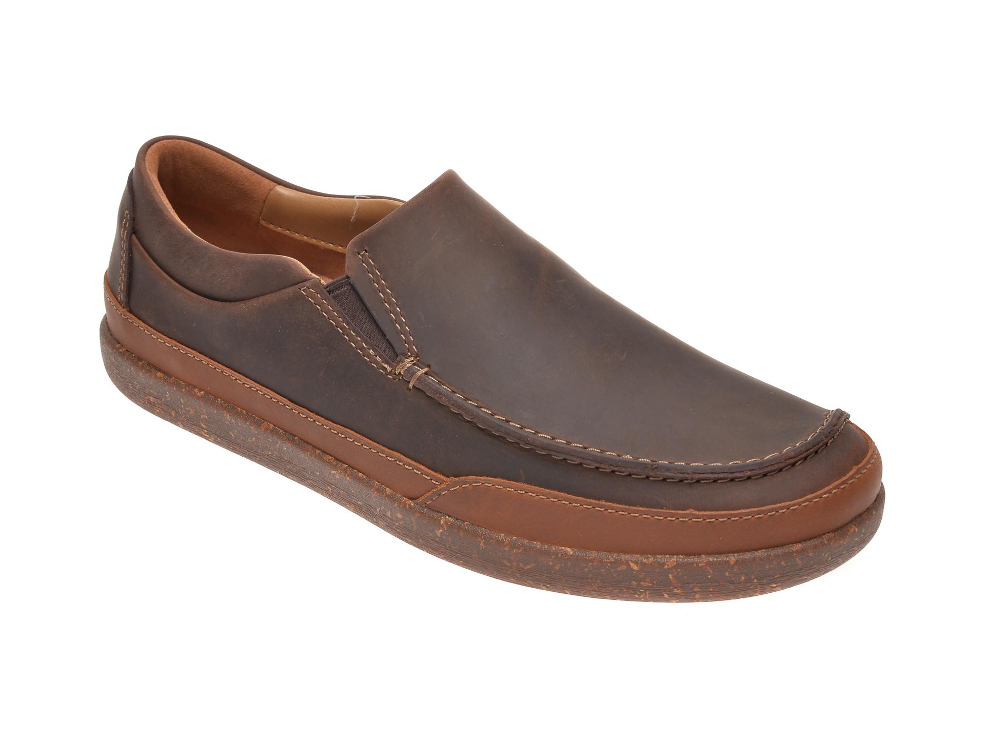 Pantofi CLARKS maro, Un Lisbon Twin, din piele naturala