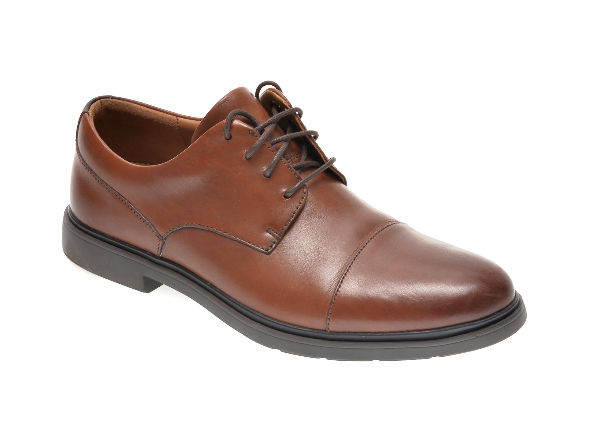 Pantofi CLARKS maro, UN TAILOR CAP, din piele naturala imagine