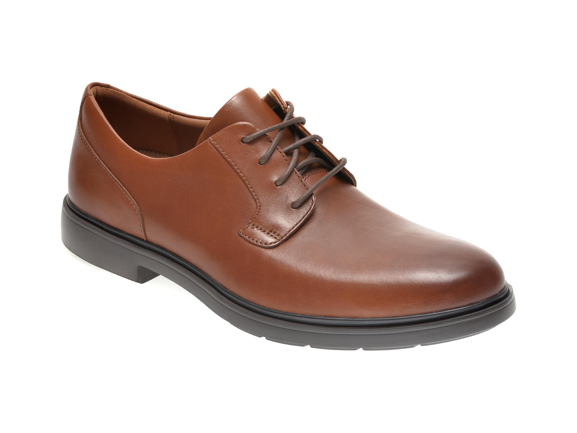 Pantofi CLARKS maro, UN TAILOR TIE, din piele naturala imagine
