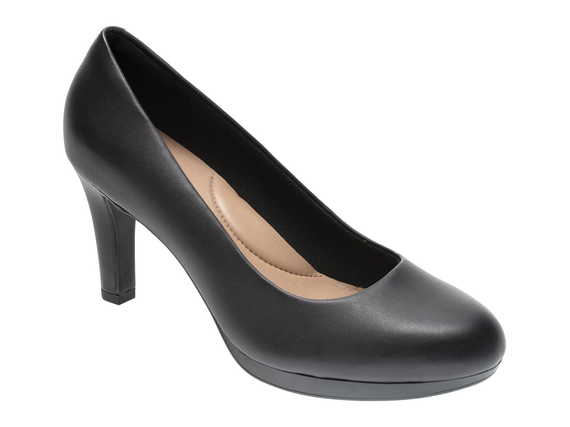 Pantofi CLARKS negri, ADRIEL VIOLA, din piele naturala imagine