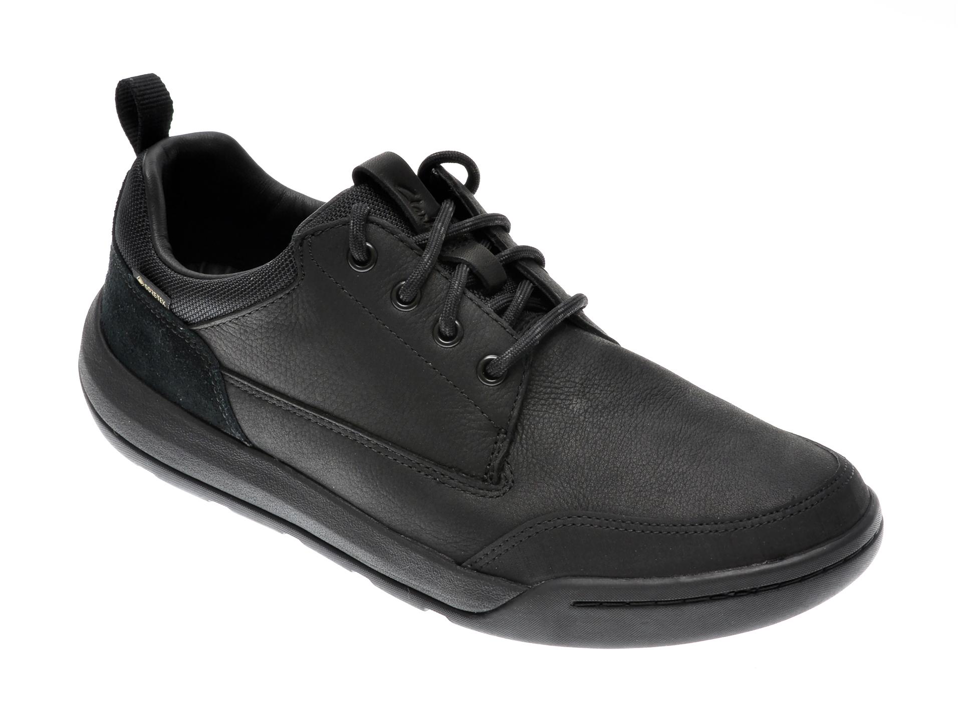 Pantofi CLARKS negri, ASHCOMBE LO GTX, din piele naturala imagine