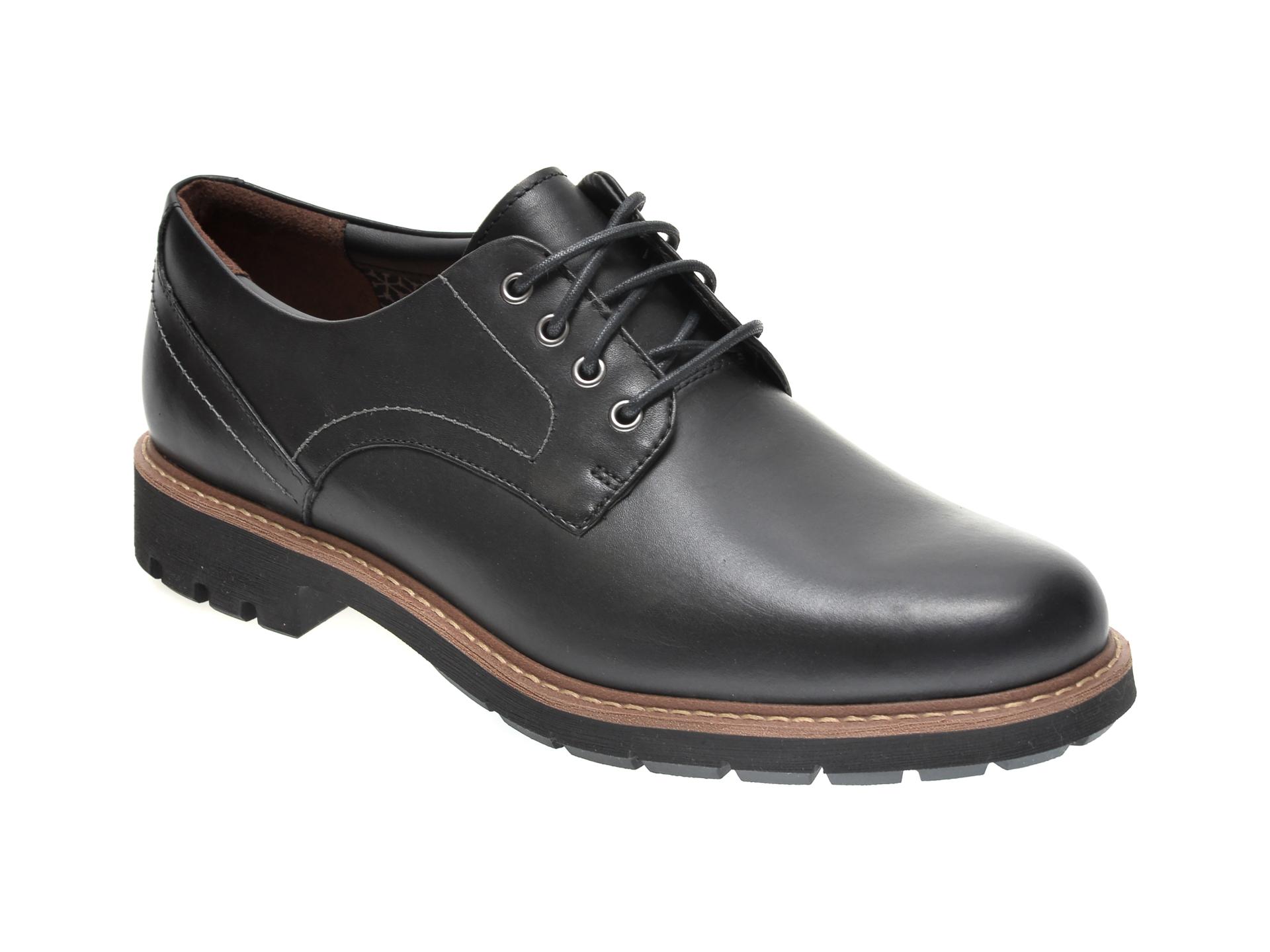 Pantofi CLARKS negri, BATCOMBE HALL, din piele naturala imagine