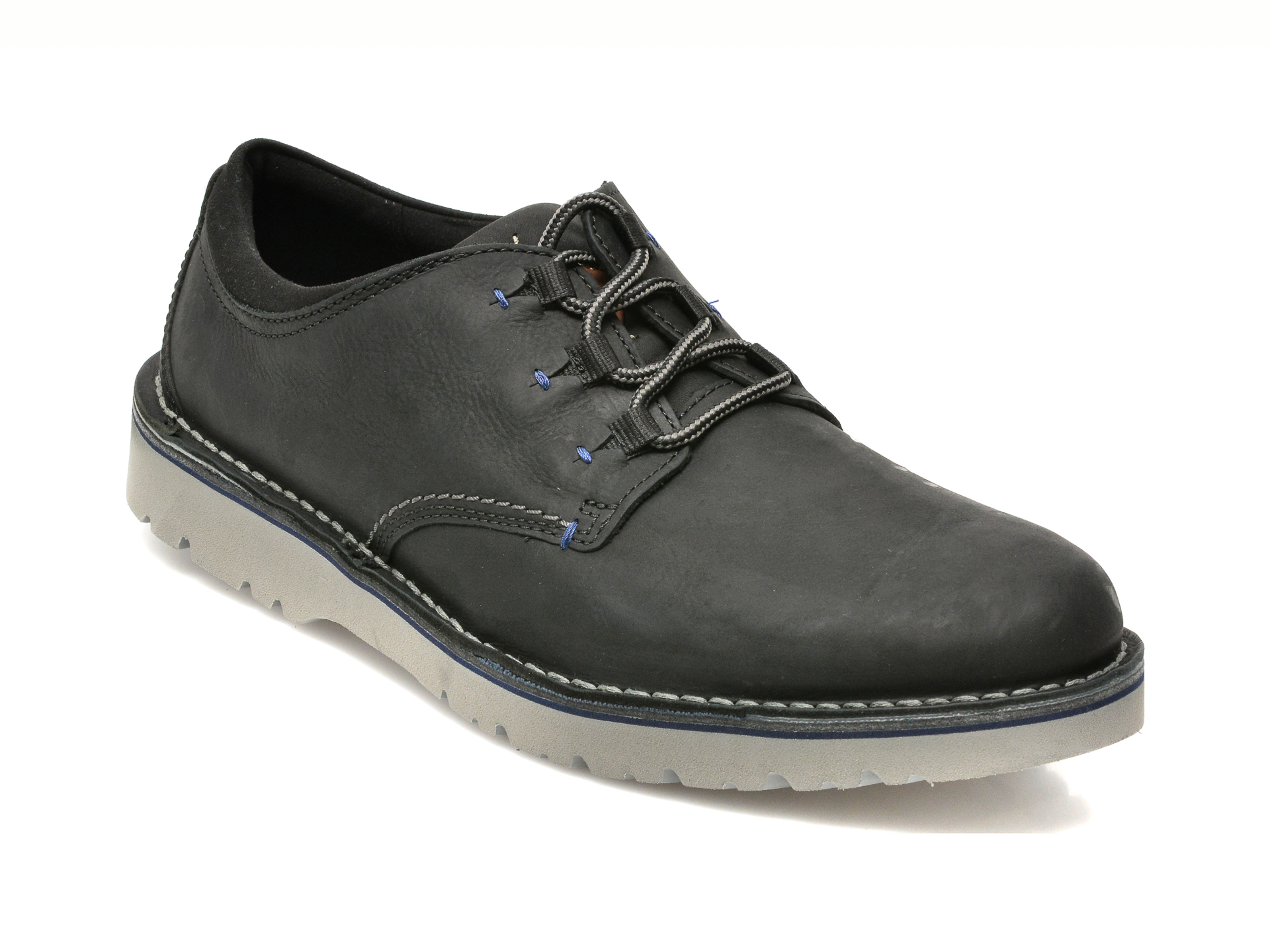Pantofi Clarks Negri, East Ford Low, Din Nabuc