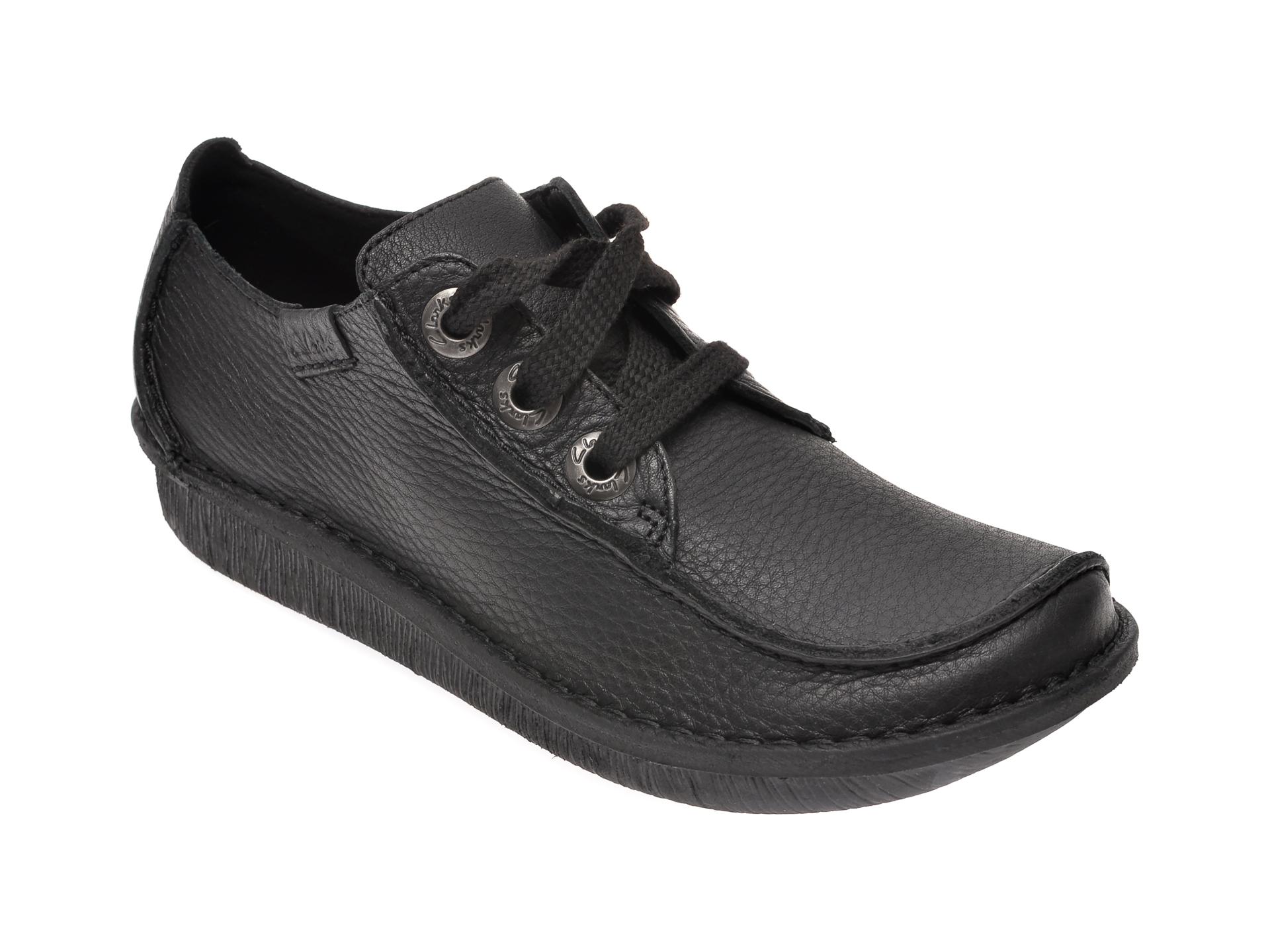 Pantofi CLARKS negri, Funny Dream, din piele naturala imagine otter.ro 2021