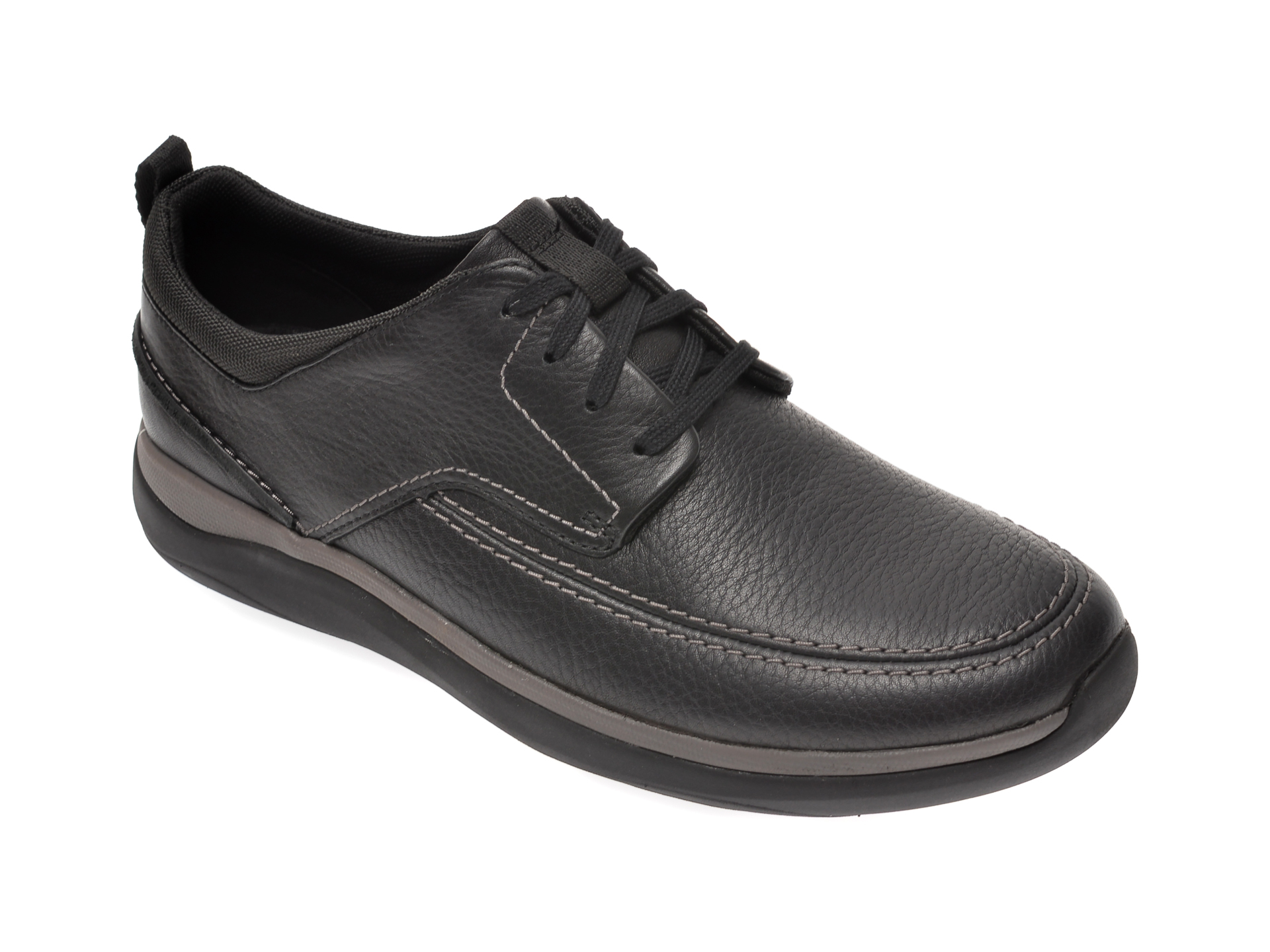 Pantofi CLARKS negri, Garratt Street, din piele naturala imagine