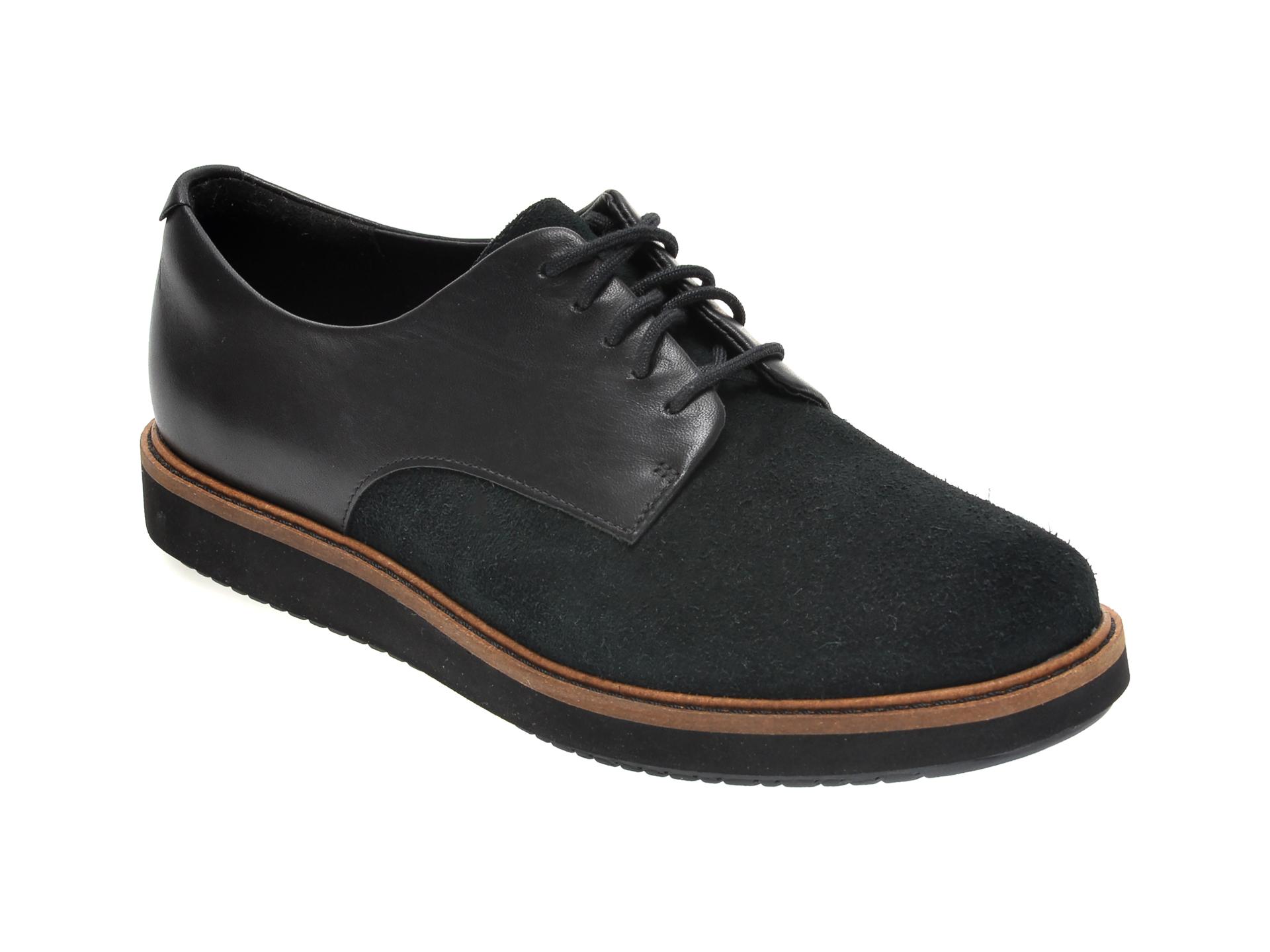 Pantofi CLARKS negri, GLICK DARBY, din piele naturala imagine