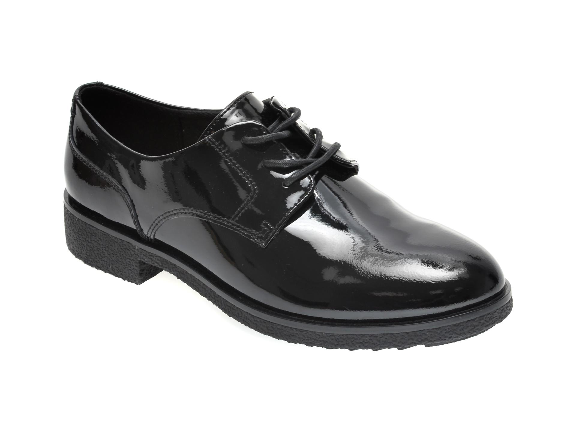 Pantofi CLARKS negri, GRIFFIN LANE, din piele ecologica imagine