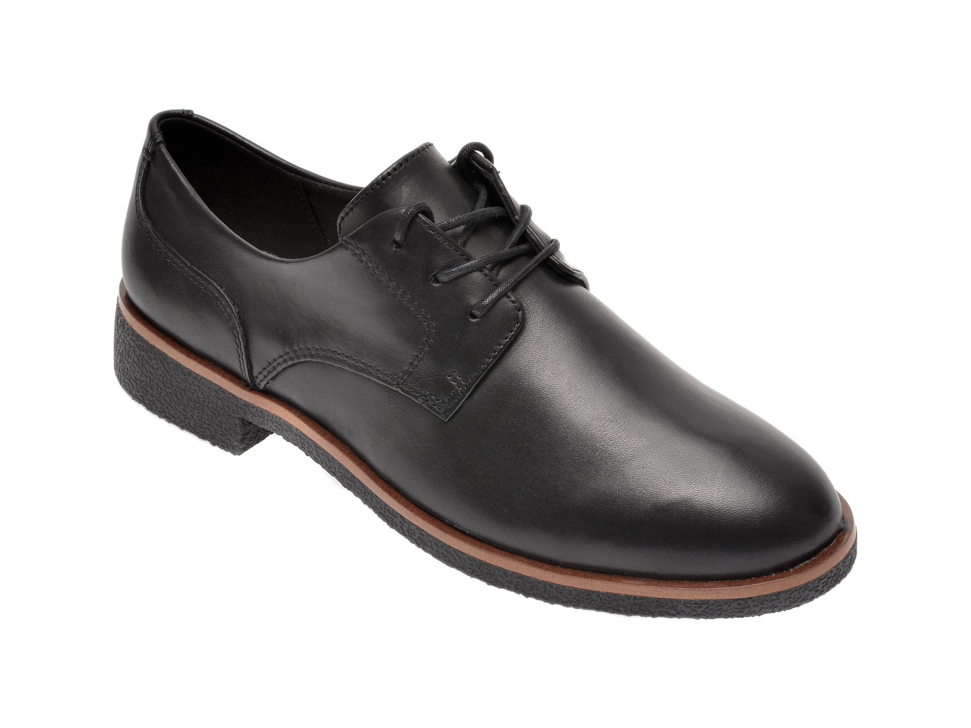 Pantofi CLARKS negri, Griffin Lane, din piele naturala imagine