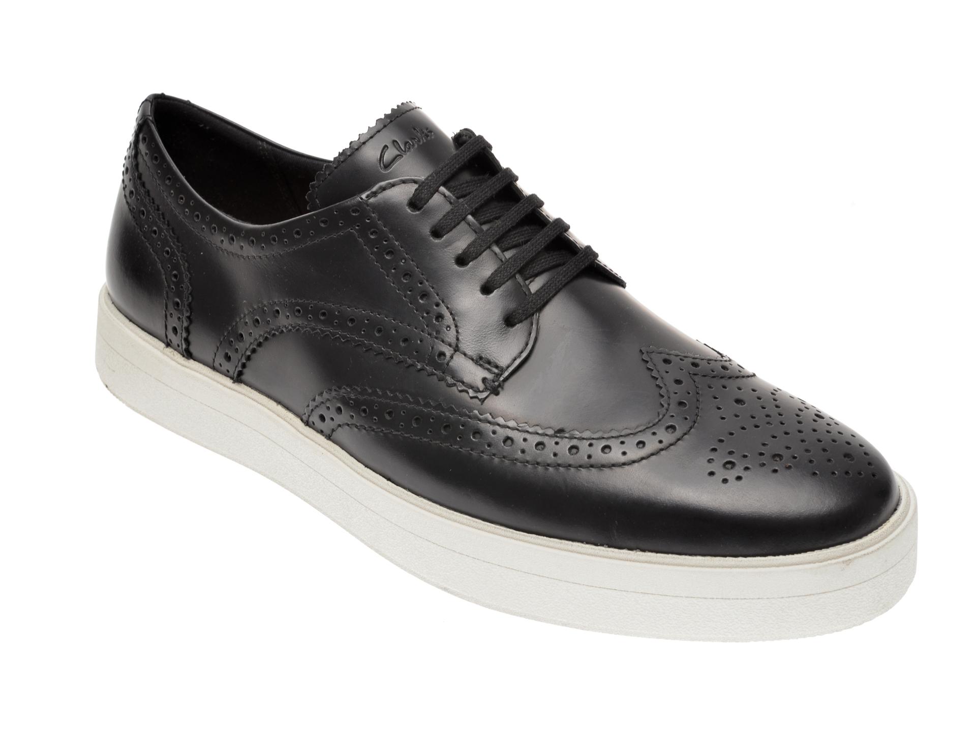 Pantofi CLARKS negri, Hero Limit, din piele naturala imagine