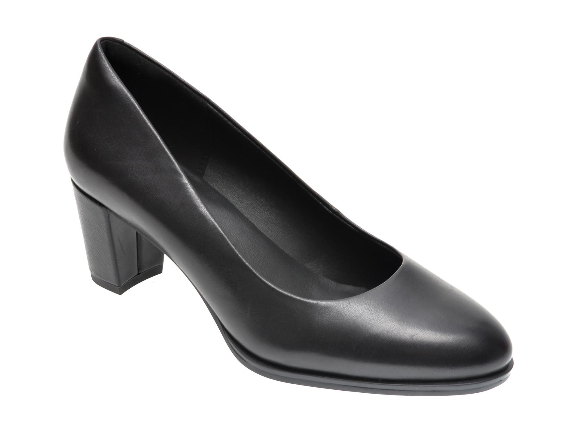 Pantofi CLARKS negri, KAYLIN60 COURT, din piele naturala imagine