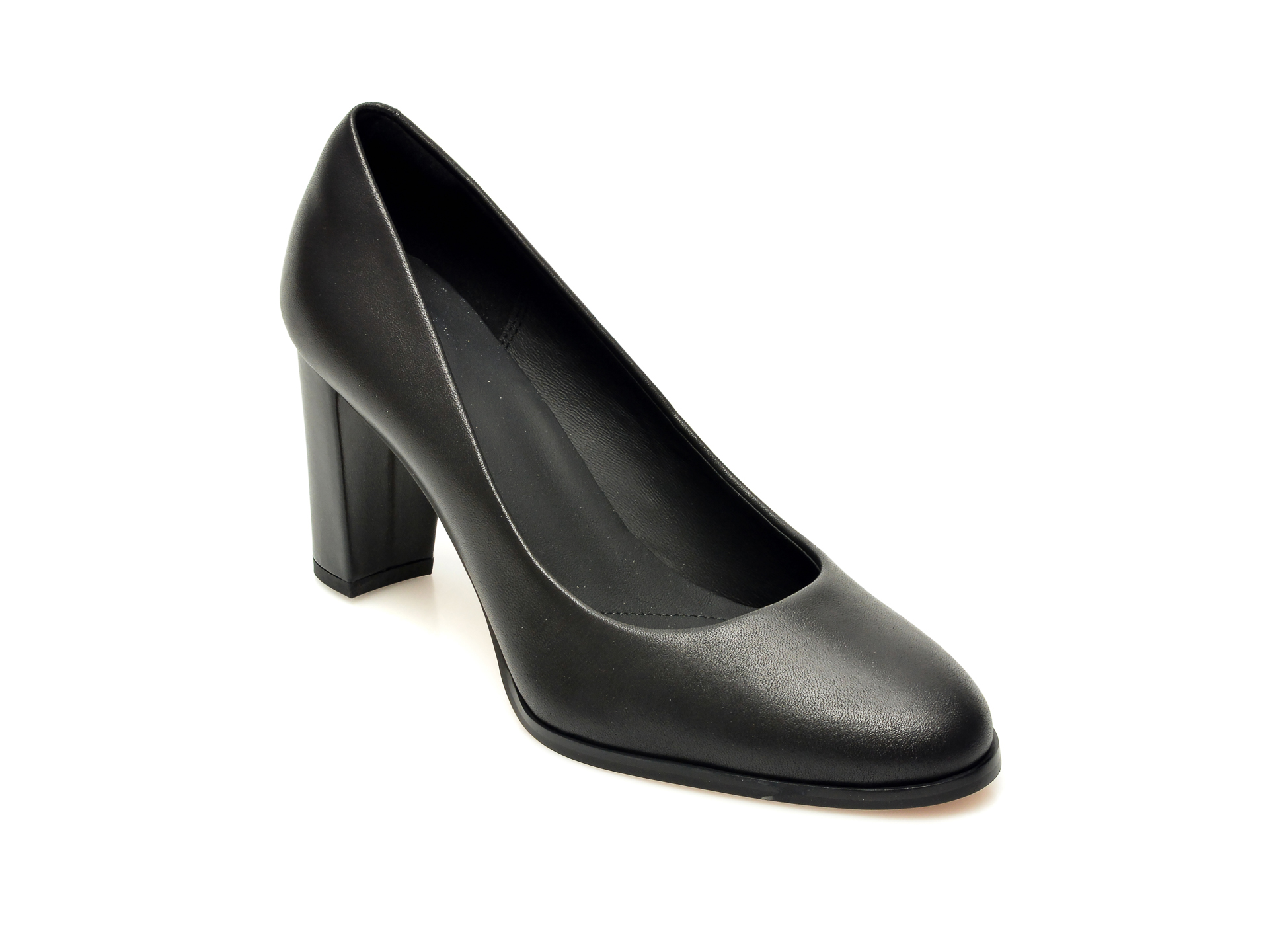 Pantofi CLARKS negri, Kaylin Cara 2, din piele naturala imagine otter.ro