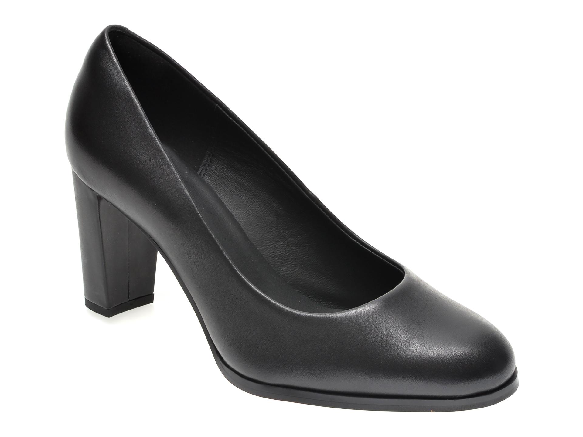 Pantofi CLARKS negri, KAYLIN CARA, din piele naturala imagine
