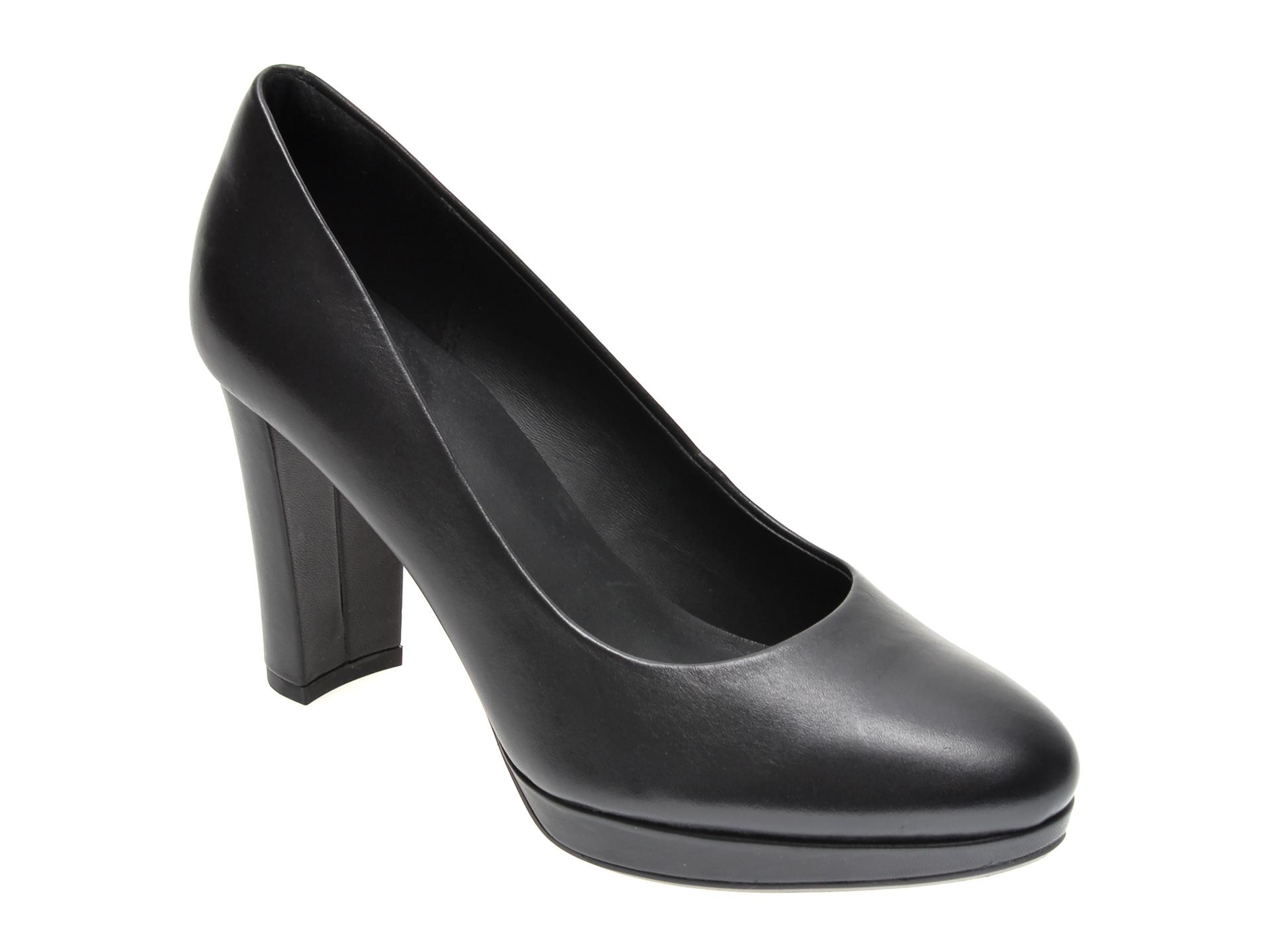 Pantofi CLARKS negri, KENDRA SIENNA, din piele naturala imagine