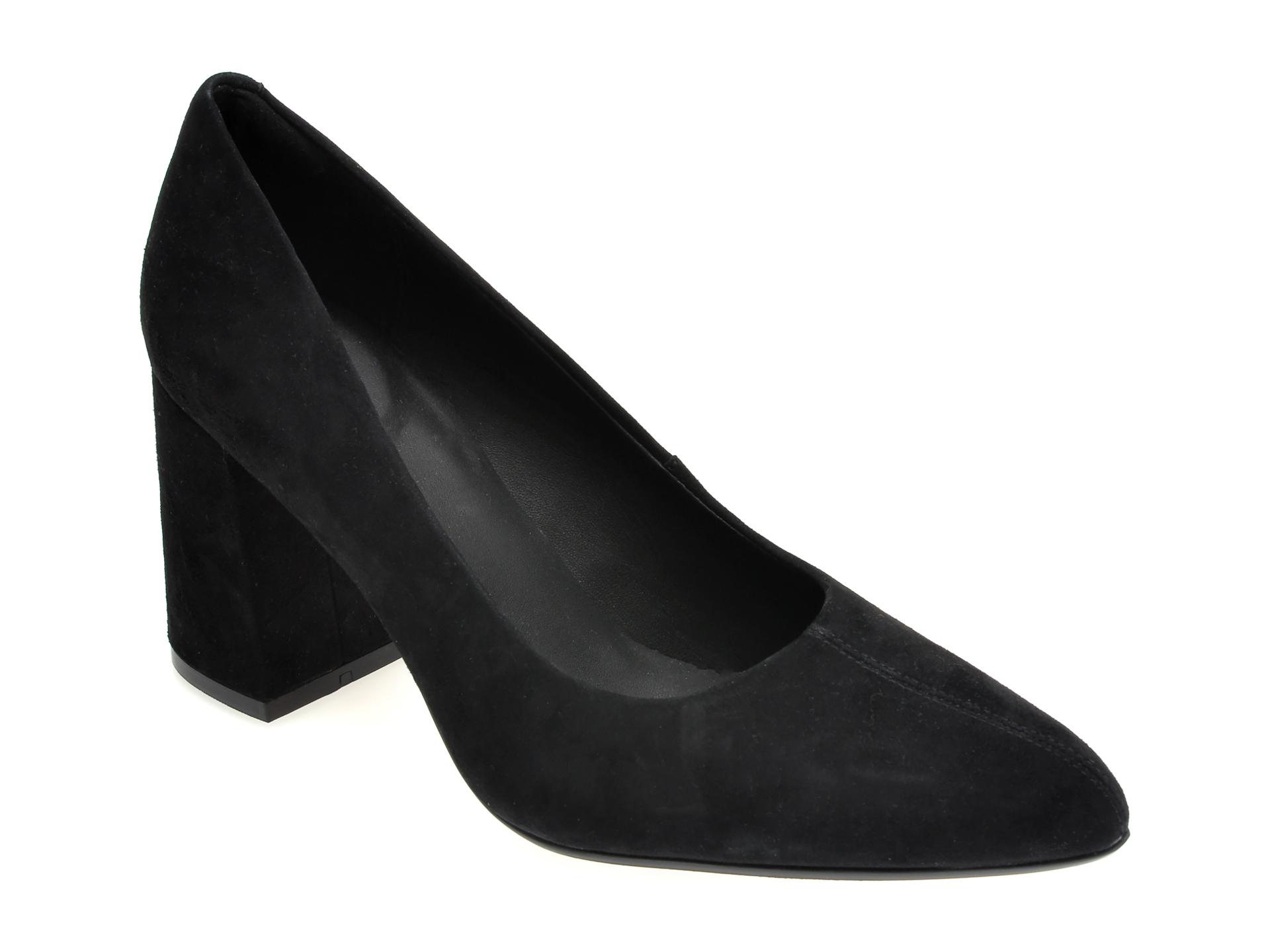 Pantofi CLARKS negri, LAI85CO, din piele intoarsa imagine