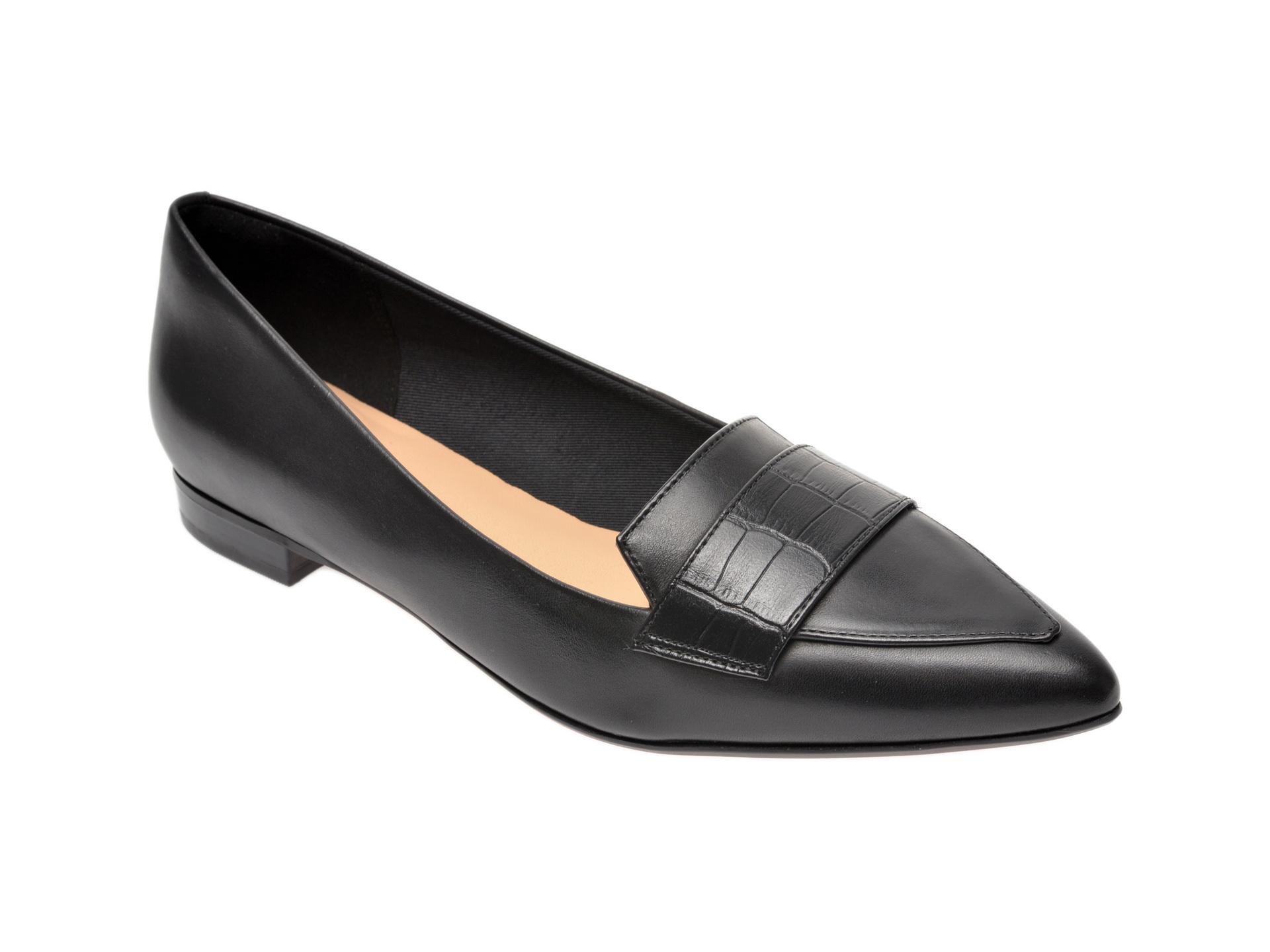 Pantofi CLARKS negri, Laina15 Loafer, din piele naturala New