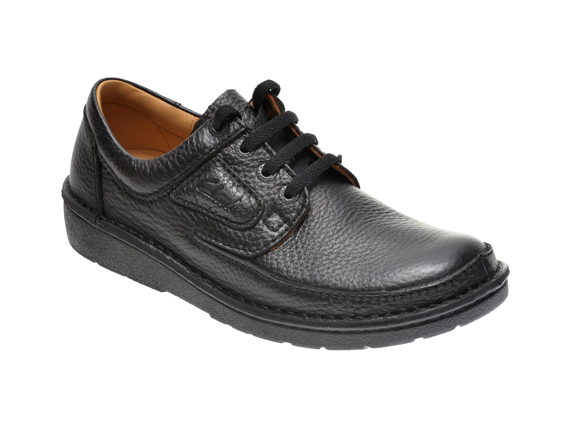 Pantofi CLARKS negri, NATURE II, din piele naturala imagine