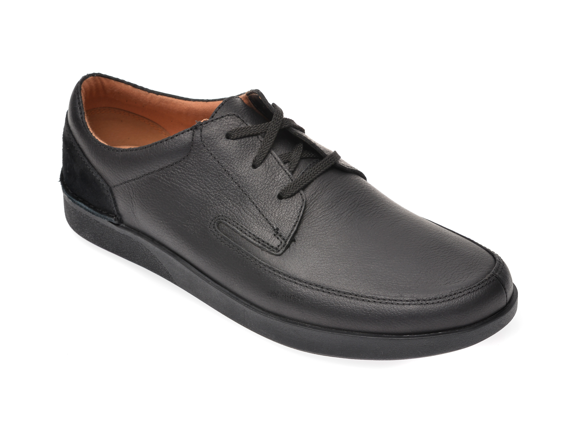 Pantofi CLARKS negri, Oakland Craft, din piele naturala imagine