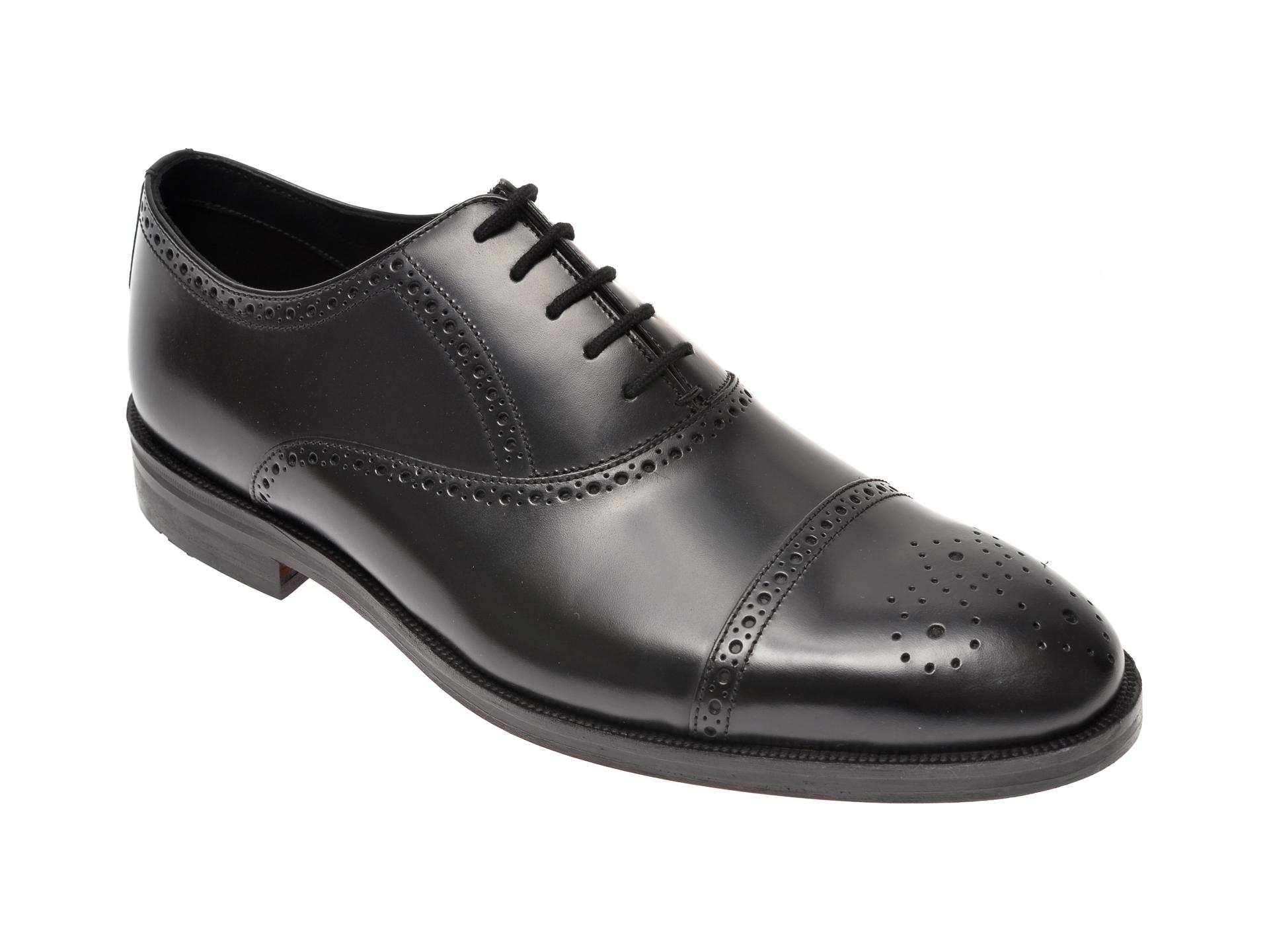 Pantofi CLARKS negri, Oliver Limit, din piele naturala imagine