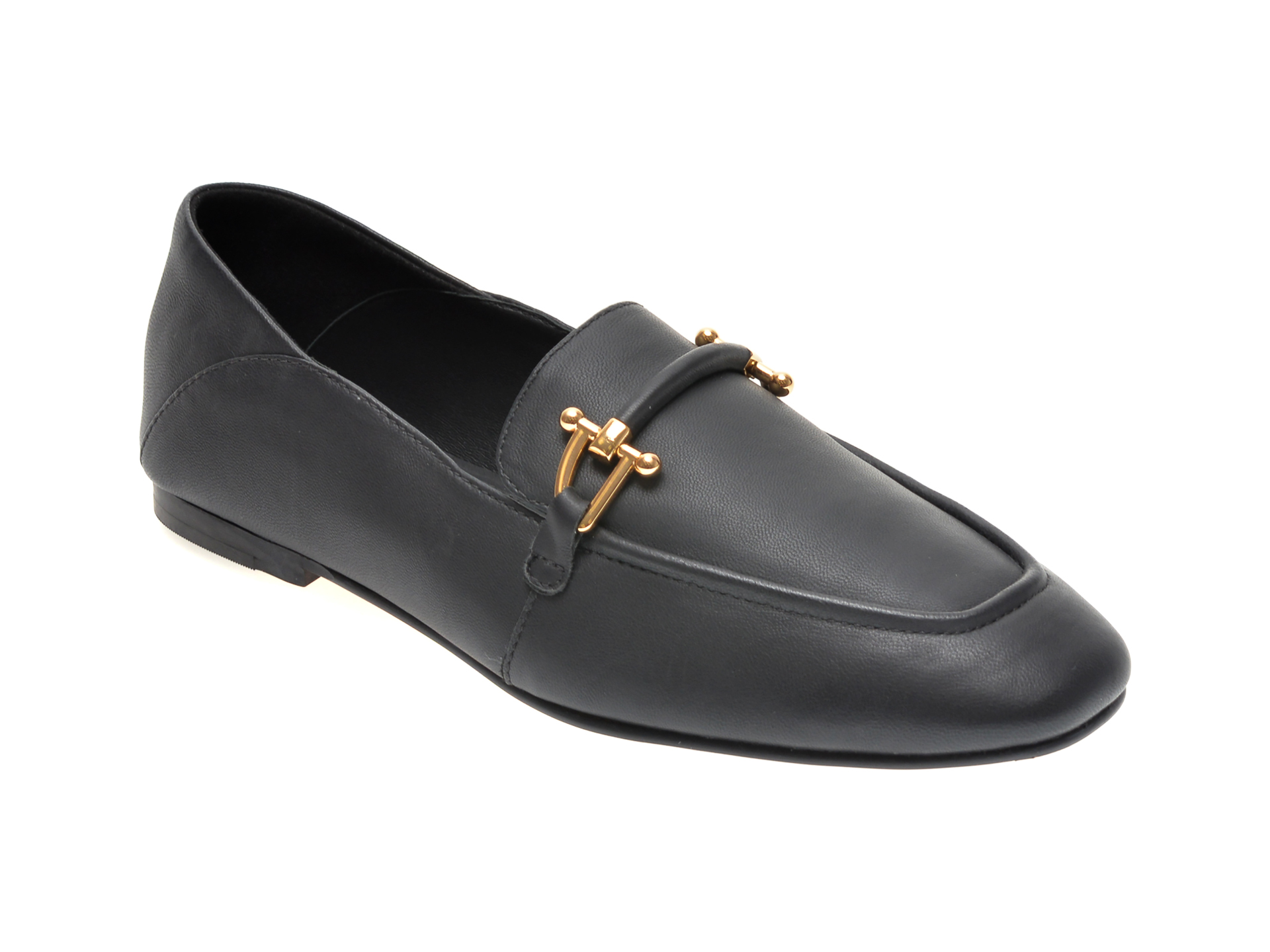 Pantofi CLARKS negri, PURE 2 LOAFER, din piele naturala imagine otter.ro 2021