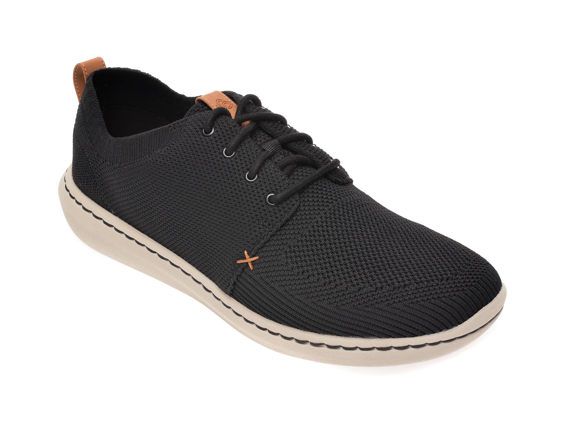 Pantofi CLARKS negri, Step Urban Mix, din material textil imagine