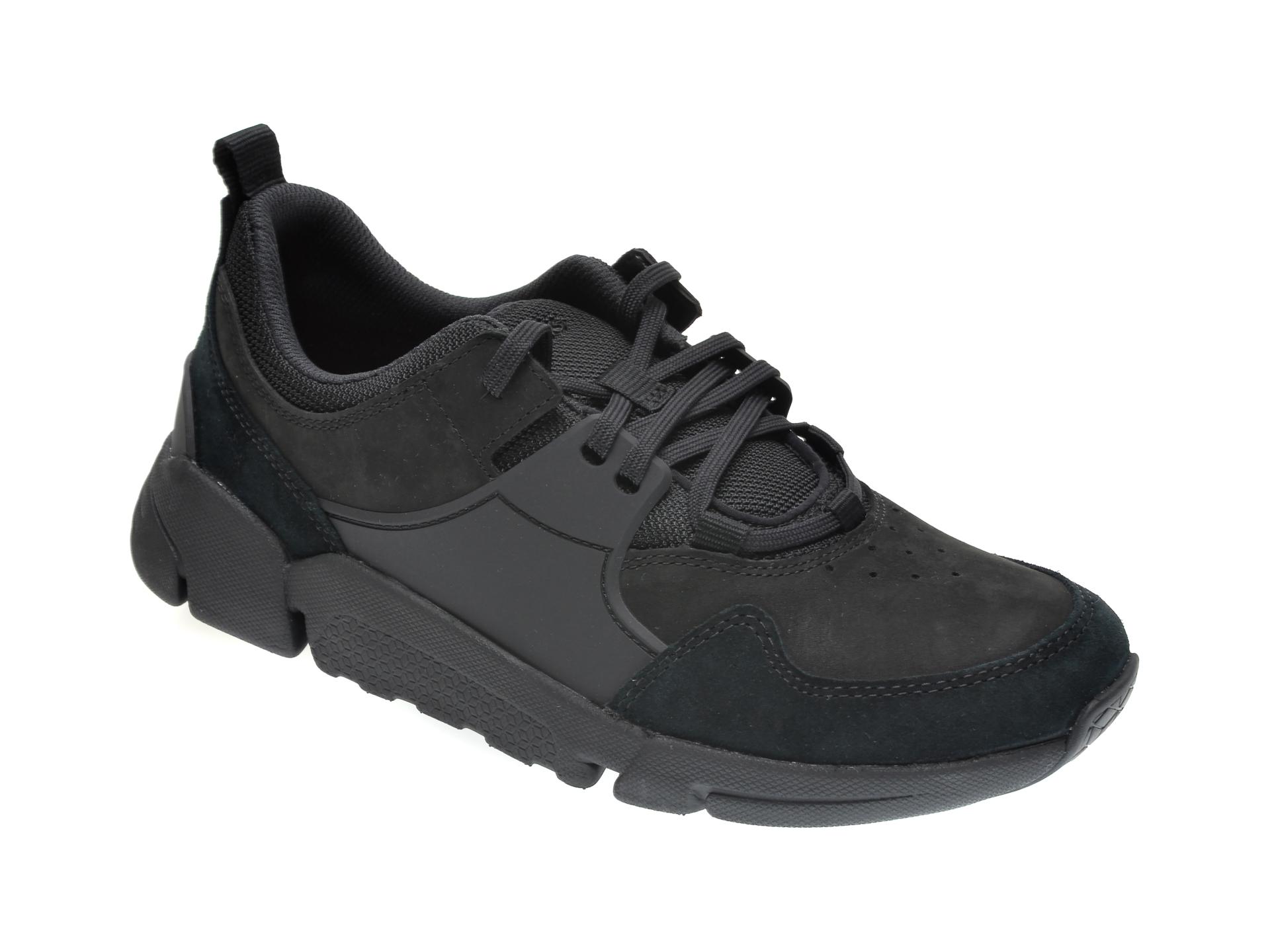Pantofi CLARKS negri, TRI ACTIVE, din piele naturala imagine