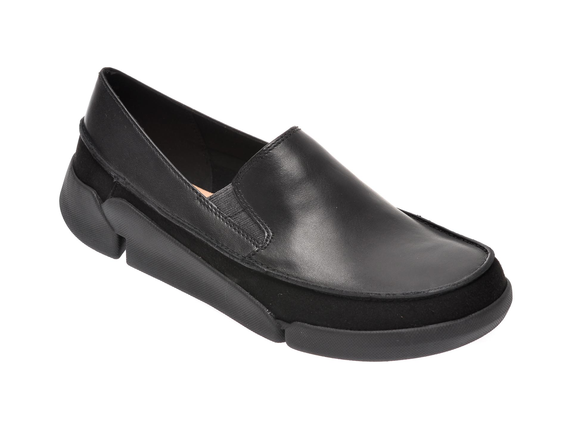 Pantofi CLARKS negri, Tri Step, din piele naturala