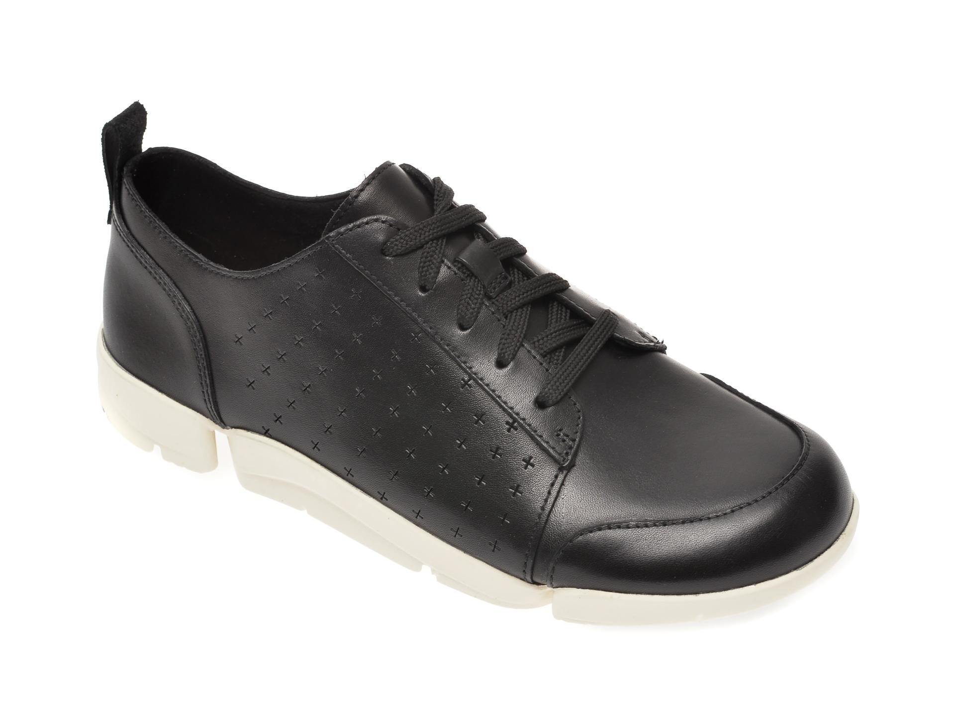 Pantofi CLARKS negri, TriAmelia Edge, din piele naturala