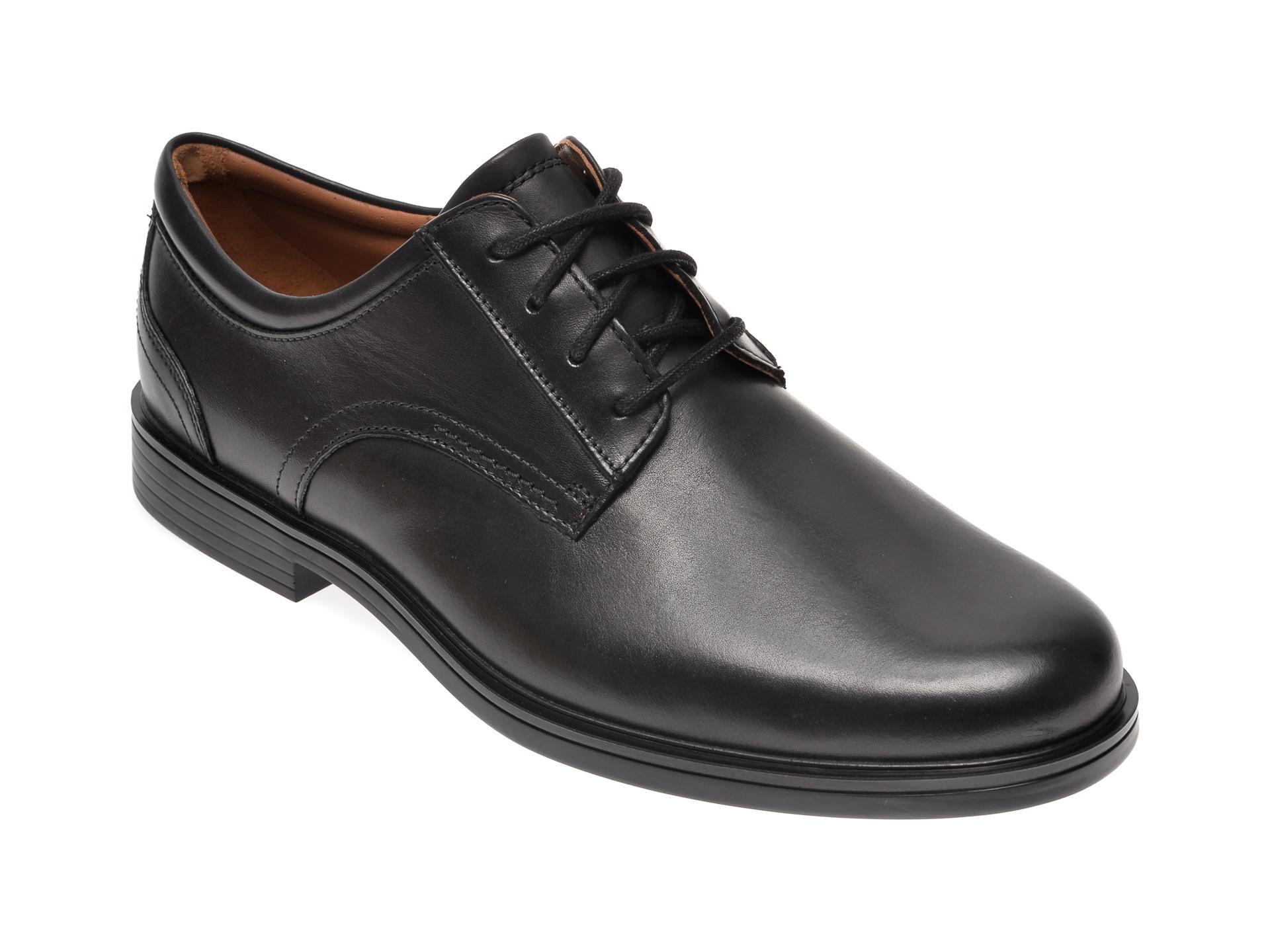 Pantofi CLARKS negri, Un Aldric Lace, din piele naturala New