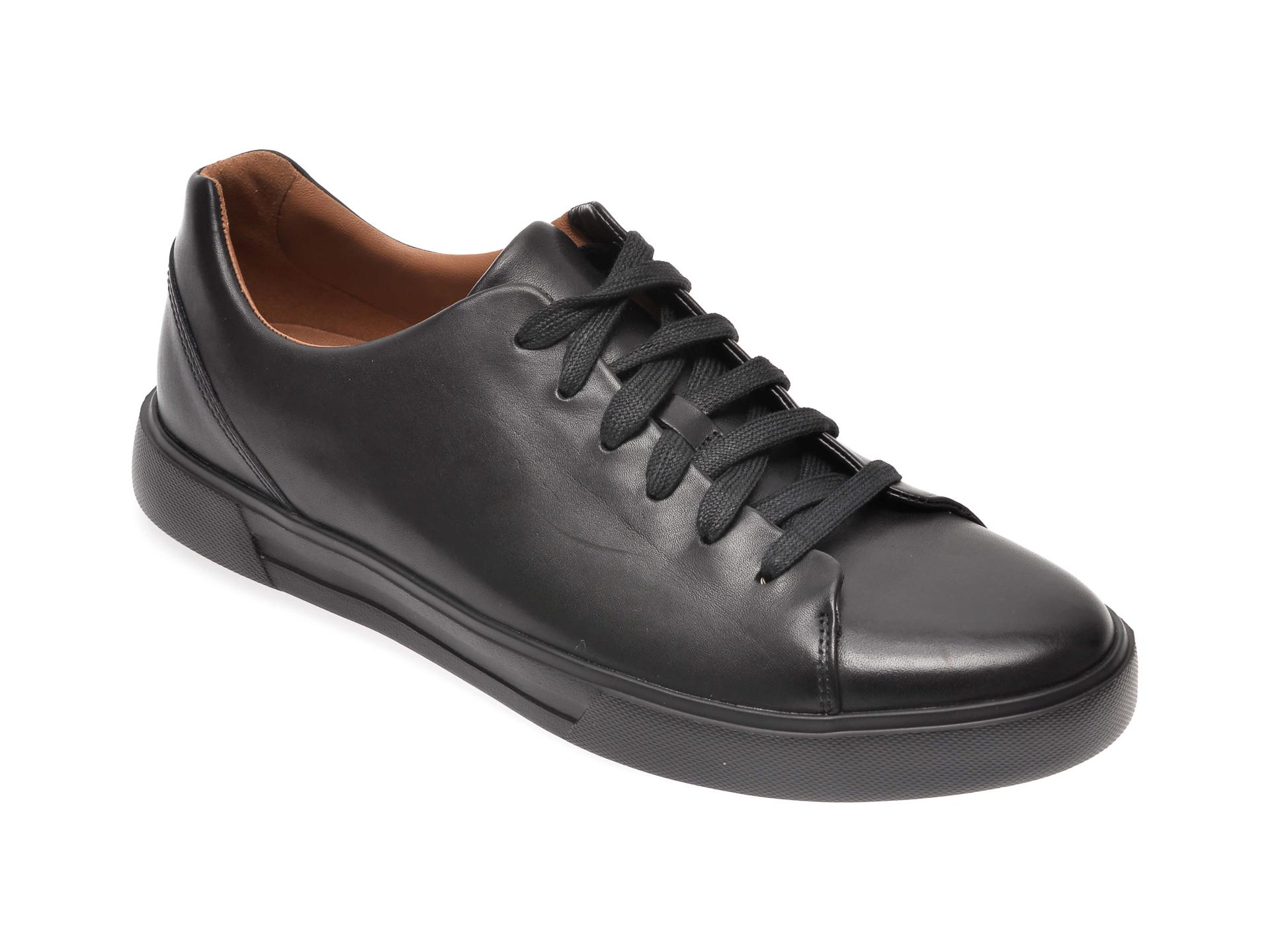 Pantofi CLARKS negri, Un Costa Lace, din piele naturala