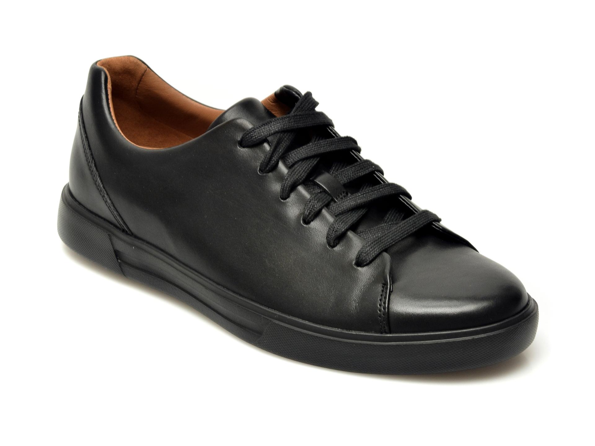 Pantofi CLARKS negri, Un Costa Lace, din piele naturala imagine