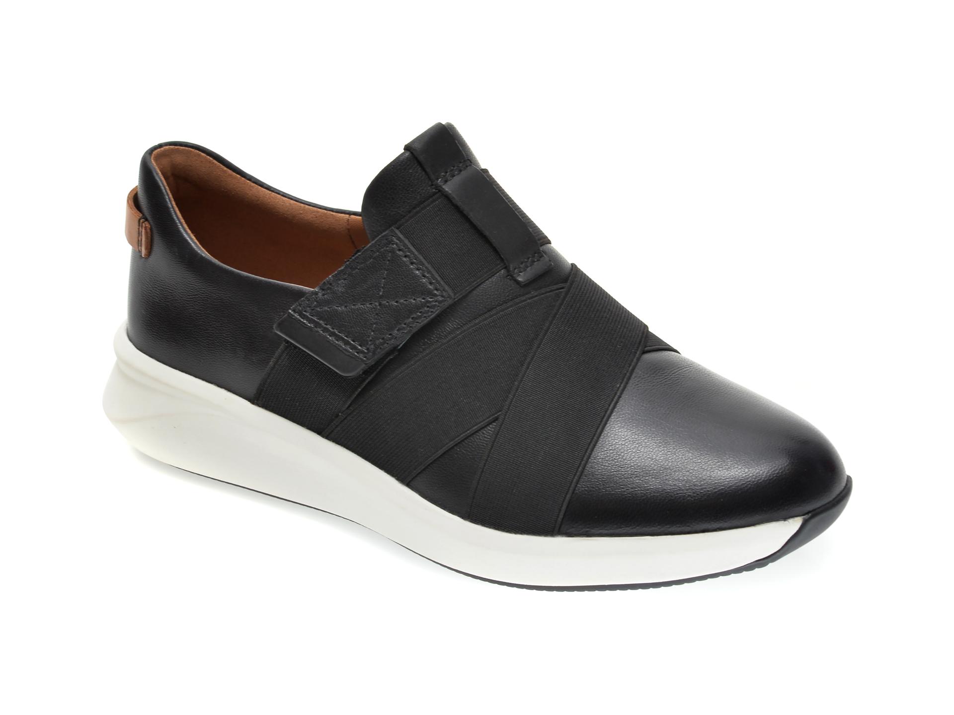 Pantofi CLARKS negri, UN RIO STRAP, din material textil si piele naturala imagine