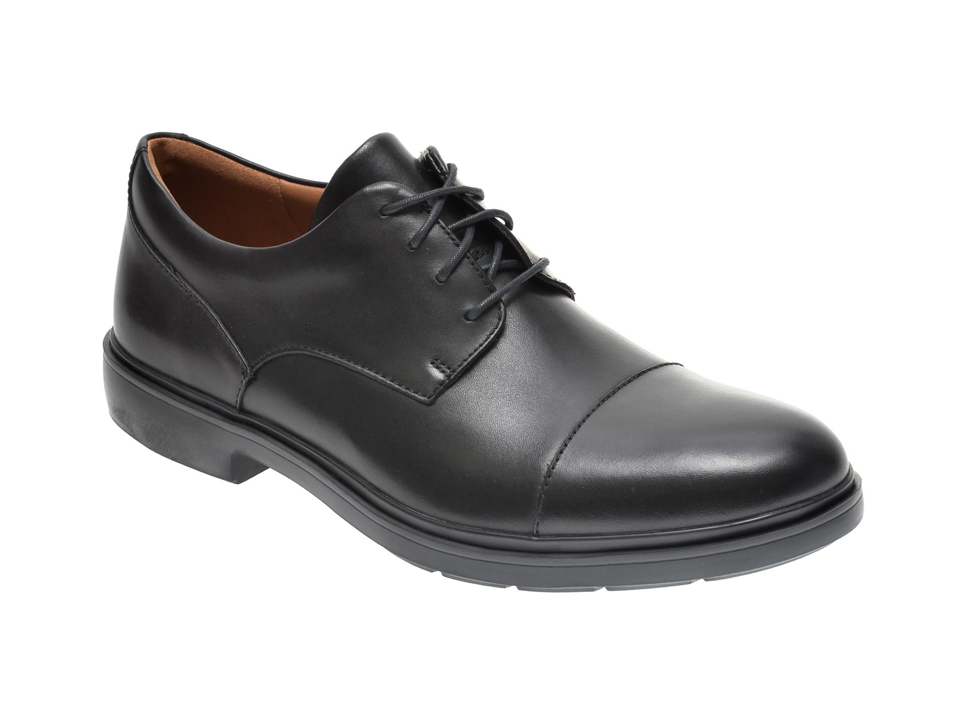 Pantofi CLARKS negri, UN TAILOR CAP, din piele naturala imagine