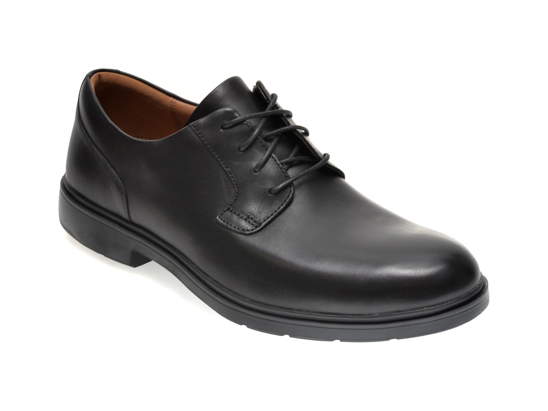 Pantofi CLARKS negri, UN TAILOR TIE, din piele naturala imagine