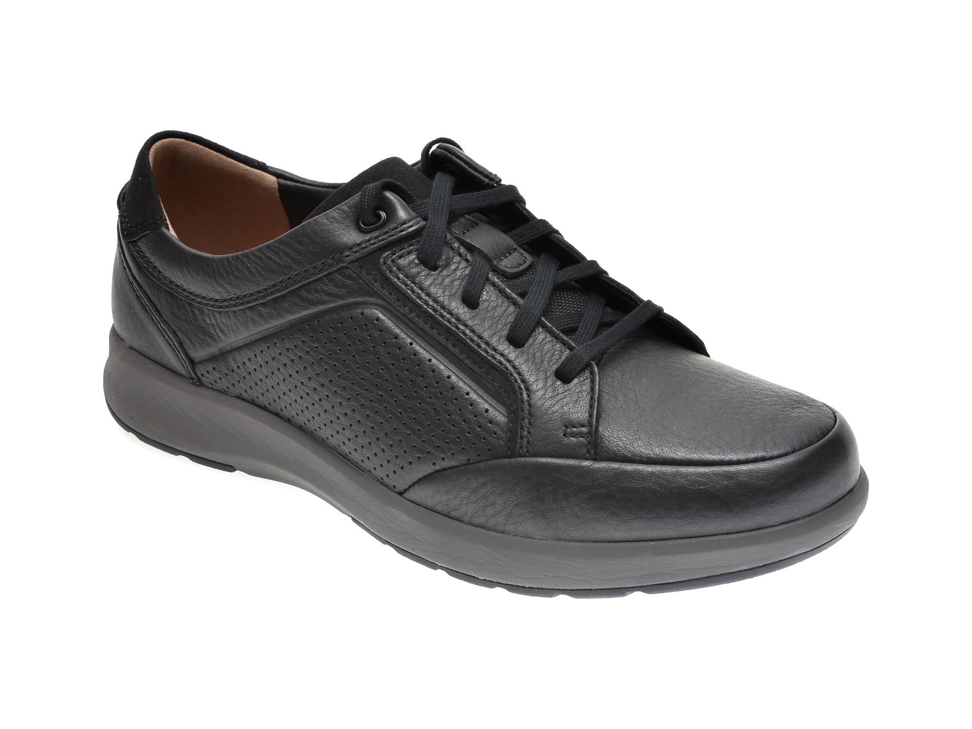 Pantofi CLARKS negri, UN TRAIL FORM, din piele naturala imagine
