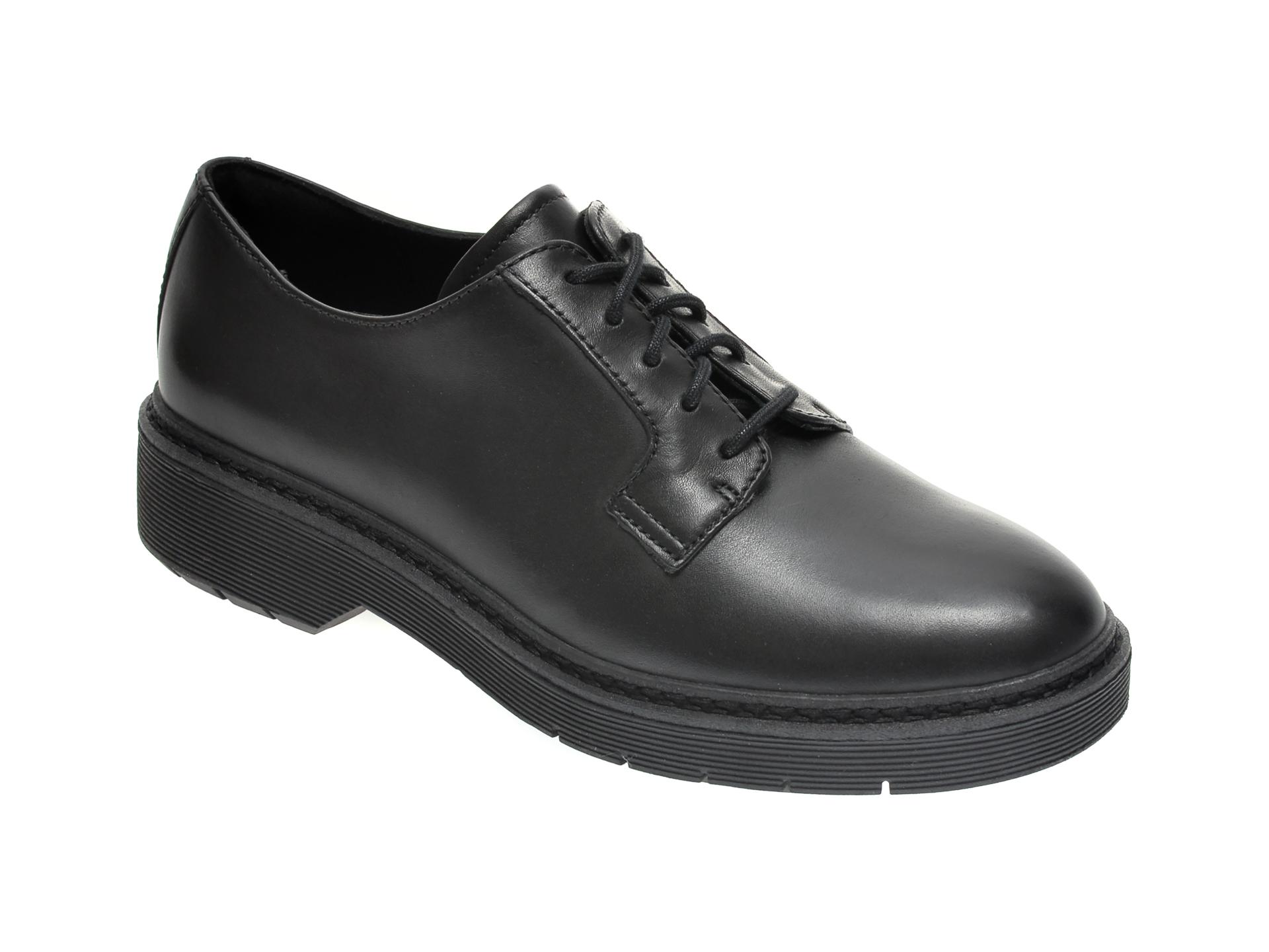 Pantofi CLARKS negri, WITCOMBE LACE, din piele naturala