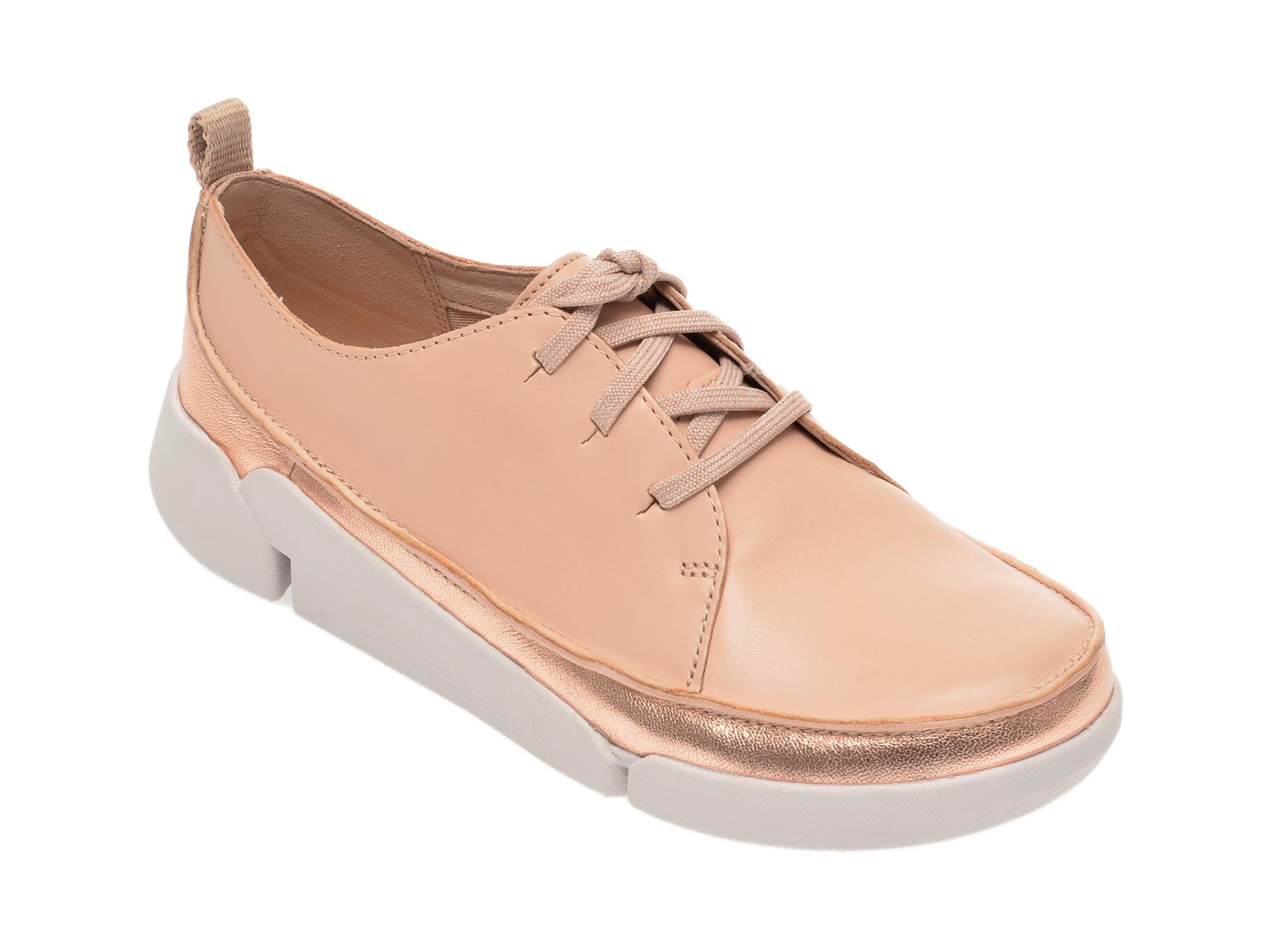 Pantofi CLARKS nude, Tri Clara, din piele naturala