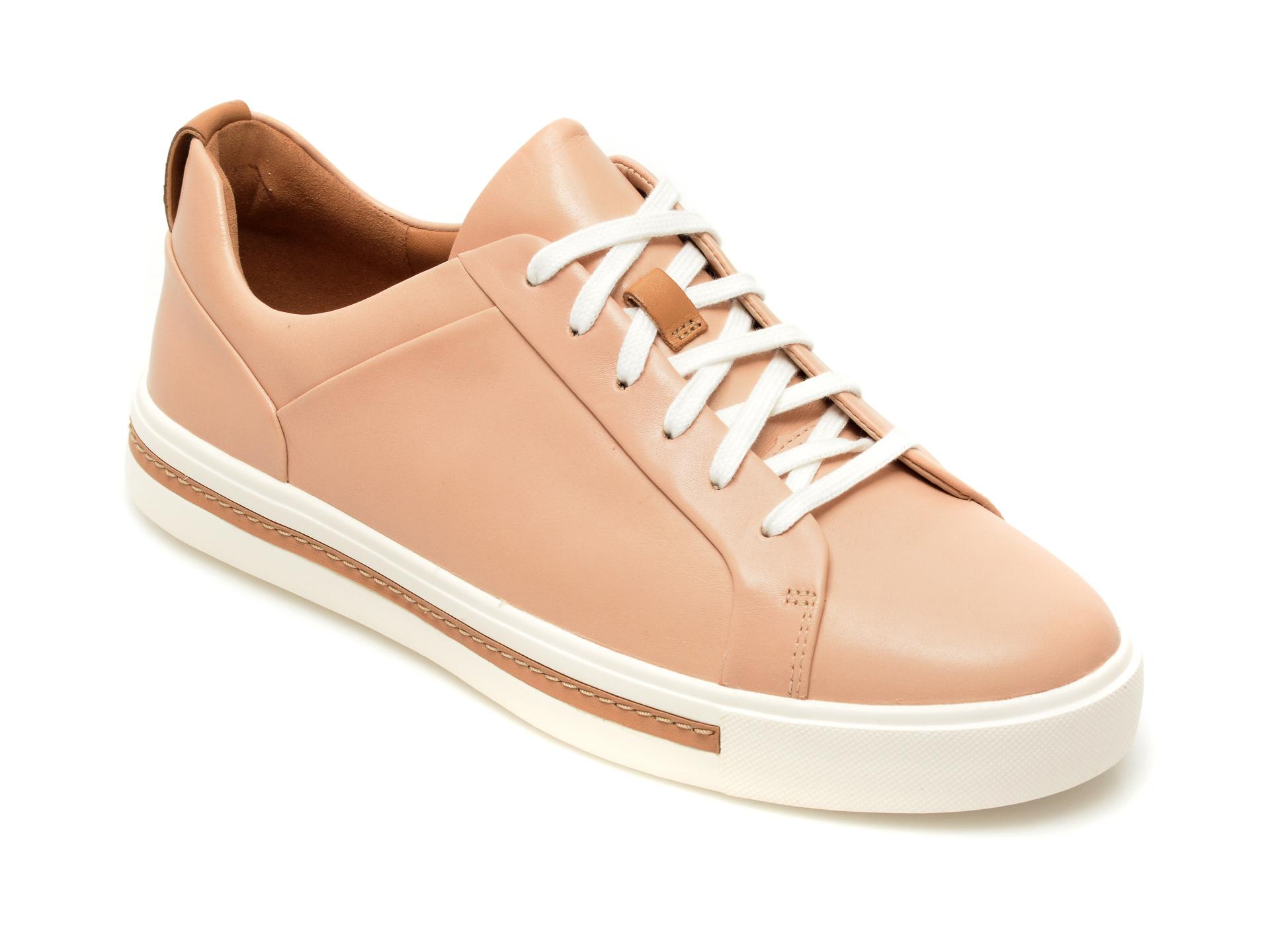 Pantofi CLARKS nude, Kaylin Cara, din piele naturala lacuita