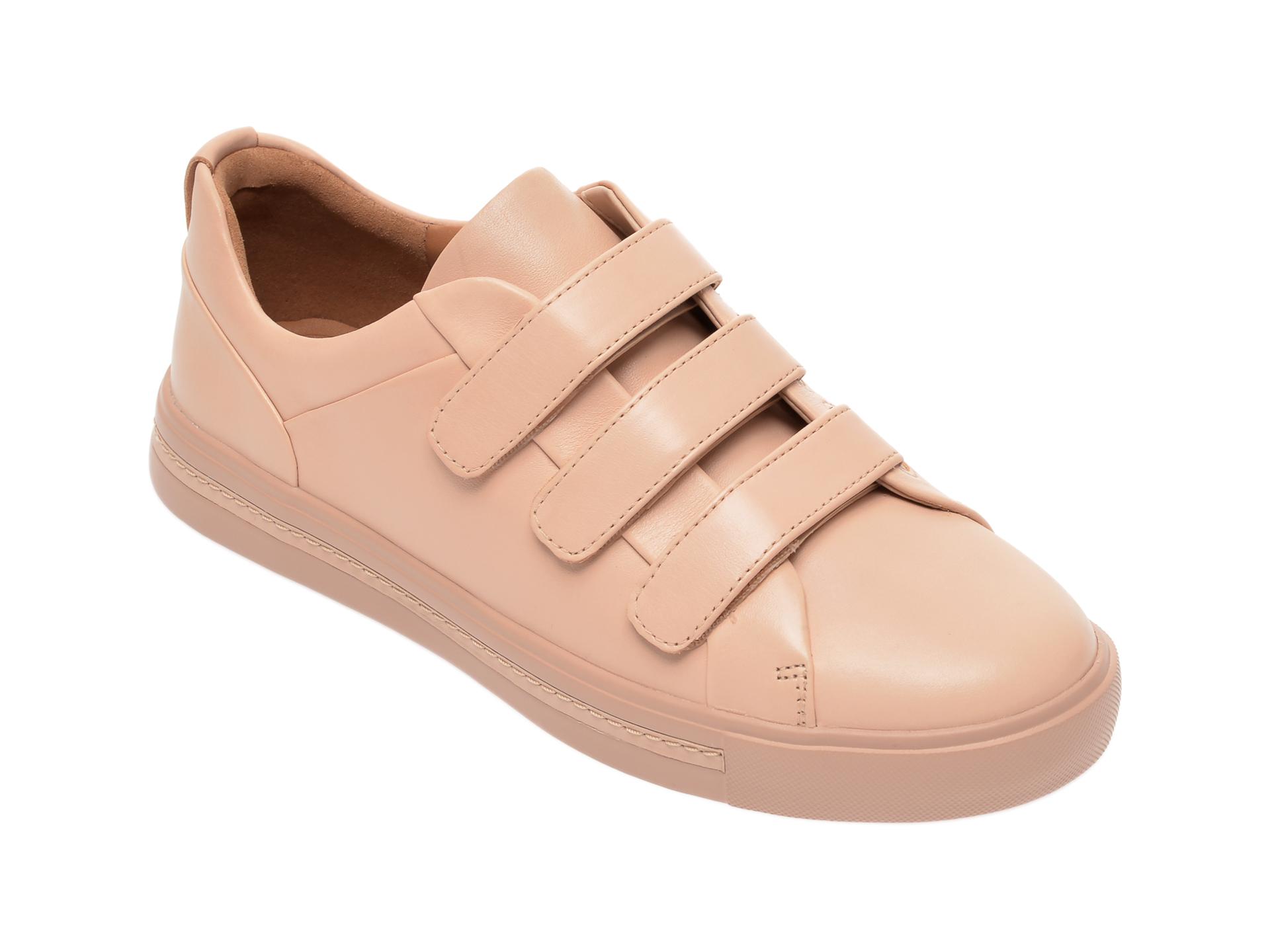 Pantofi CLARKS nude, Un Maui Strap, din piele naturala