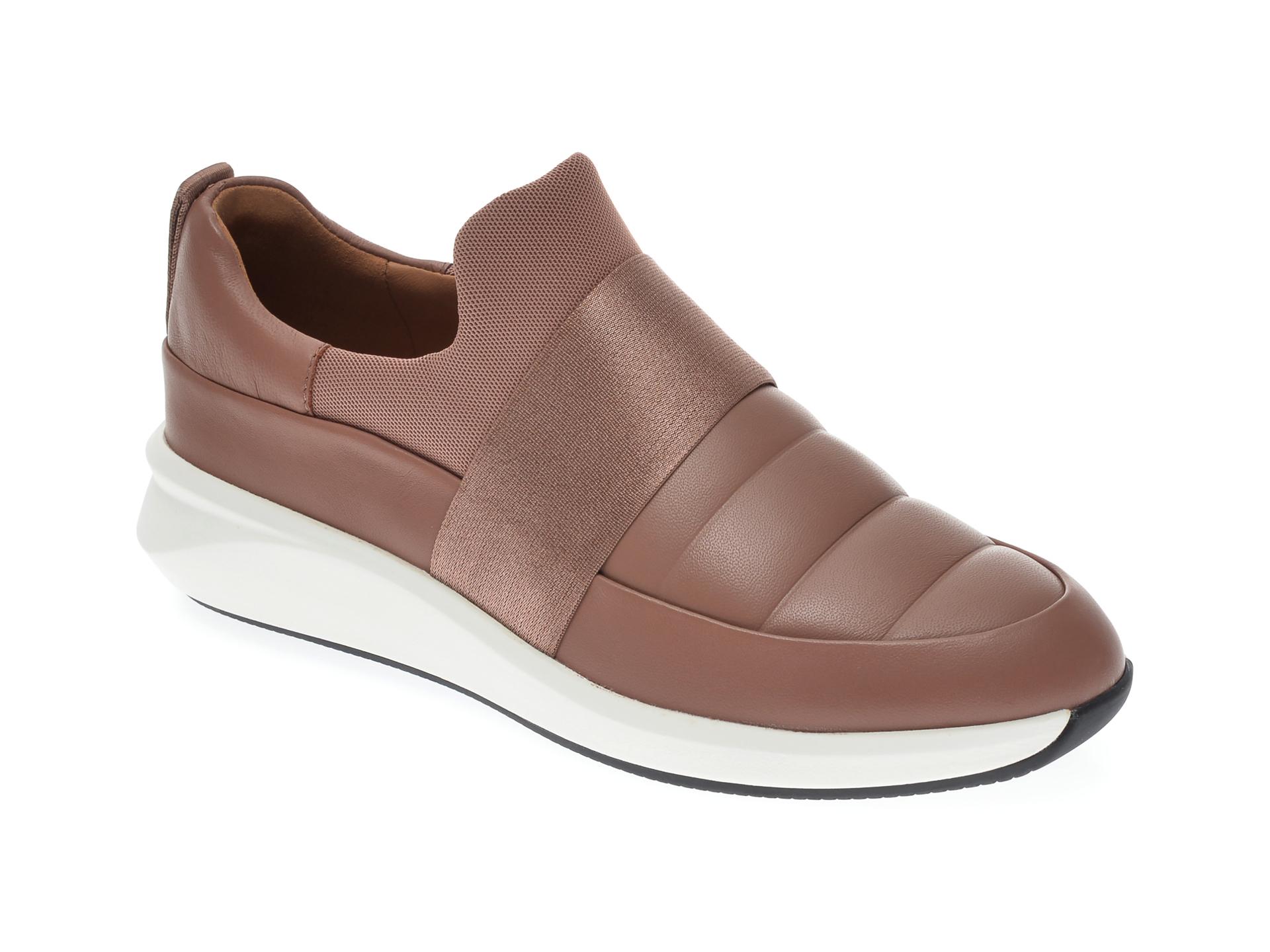 Pantofi CLARKS nude, UN RIO LO, din piele naturala imagine