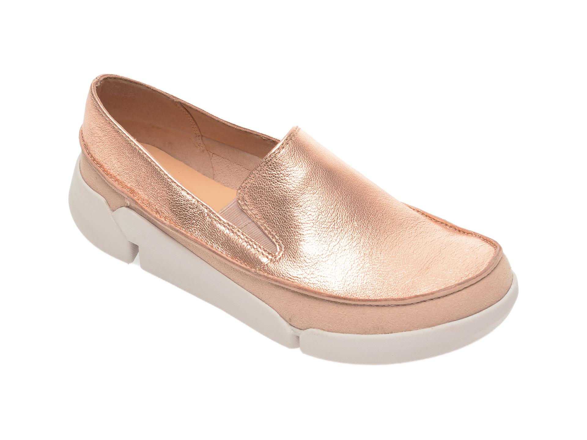 Pantofi CLARKS roz, Tri Step, din piele naturala si piele intoarsa imagine
