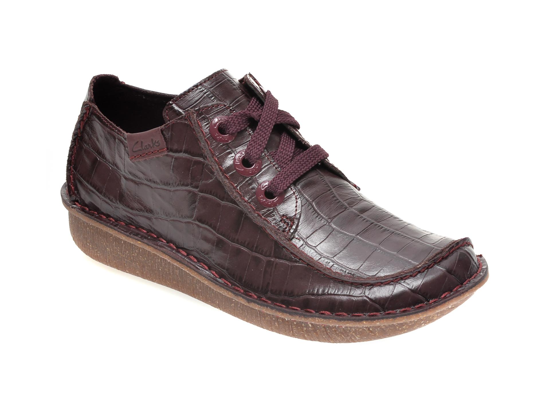 Pantofi CLARKS visinii, FUNNY DREAM, din piele naturala imagine