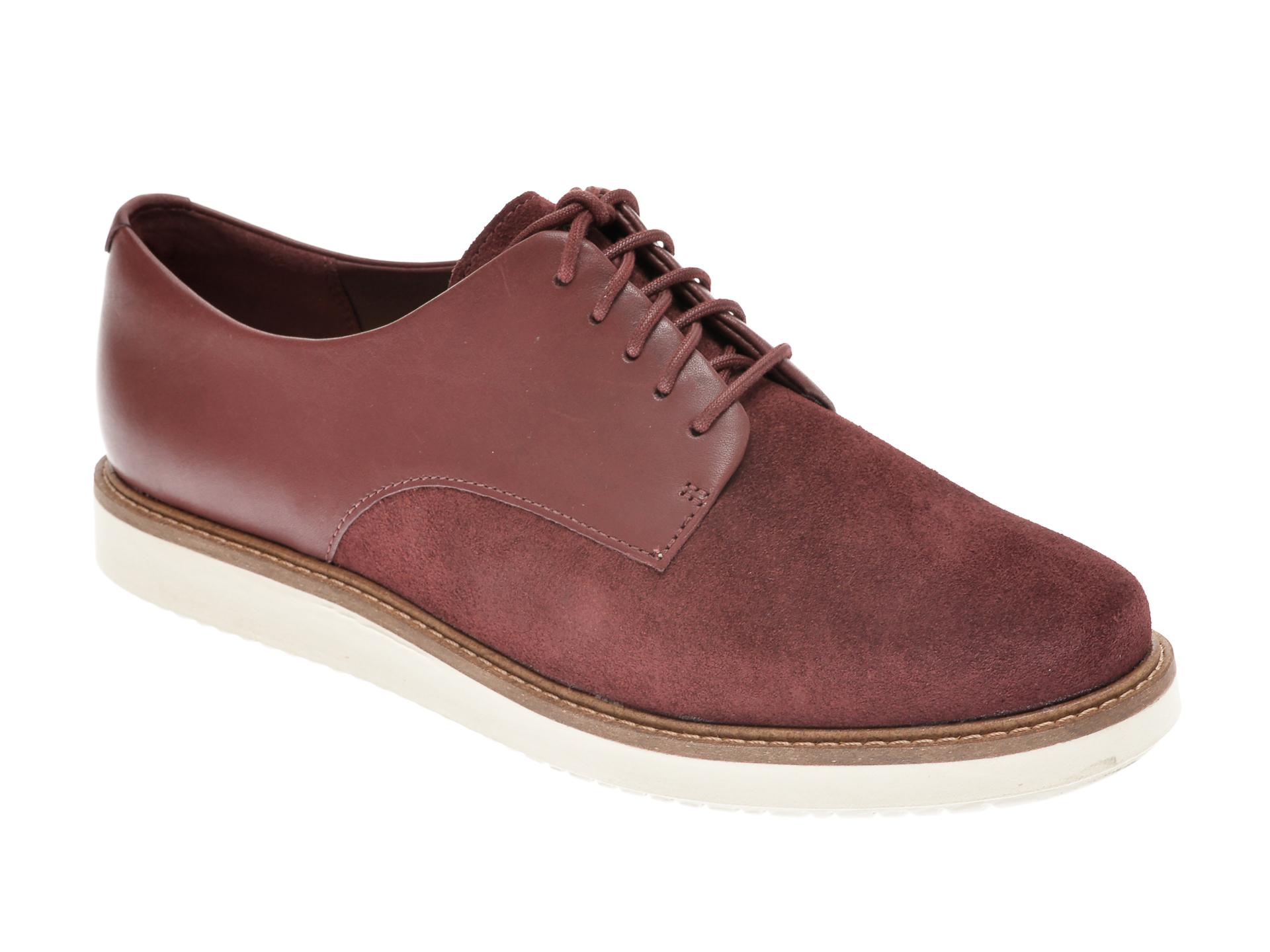 Pantofi CLARKS visinii, GLICK DARBY, din piele intoarsa imagine