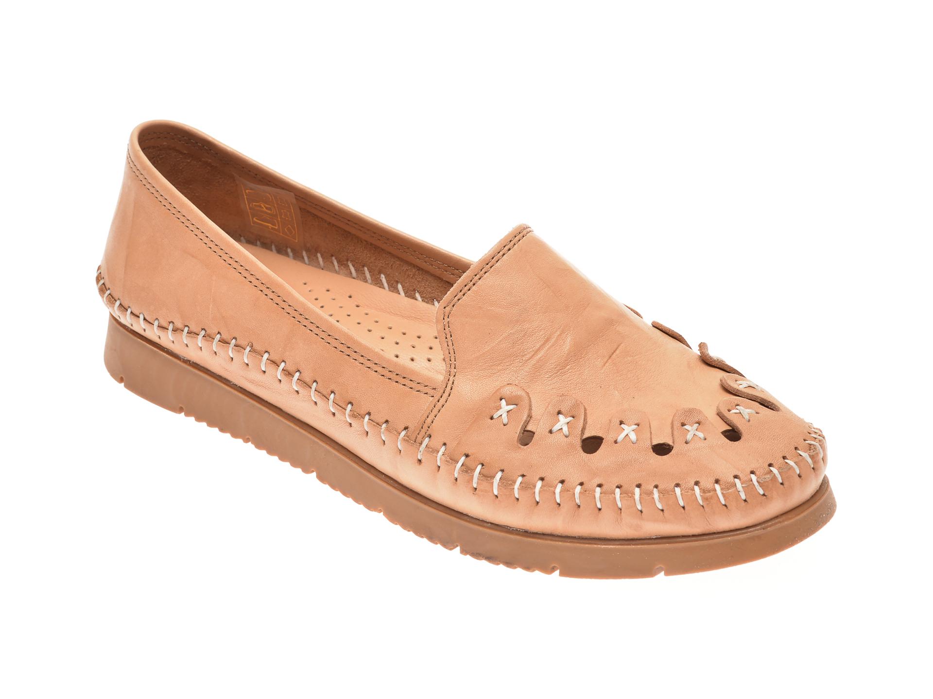Pantofi ECLIPSE bej, 1429, din piele naturala