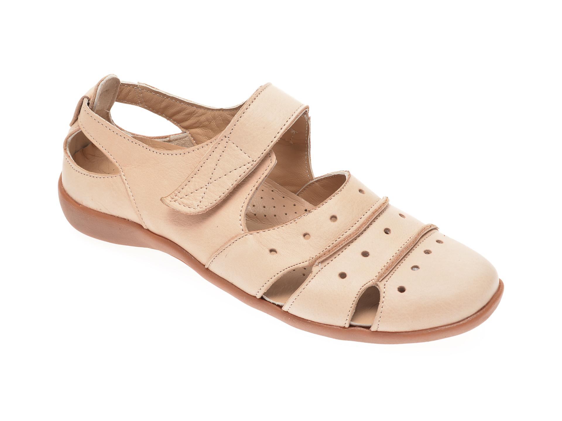 Pantofi ECLIPSE bej, 201, din piele naturala imagine