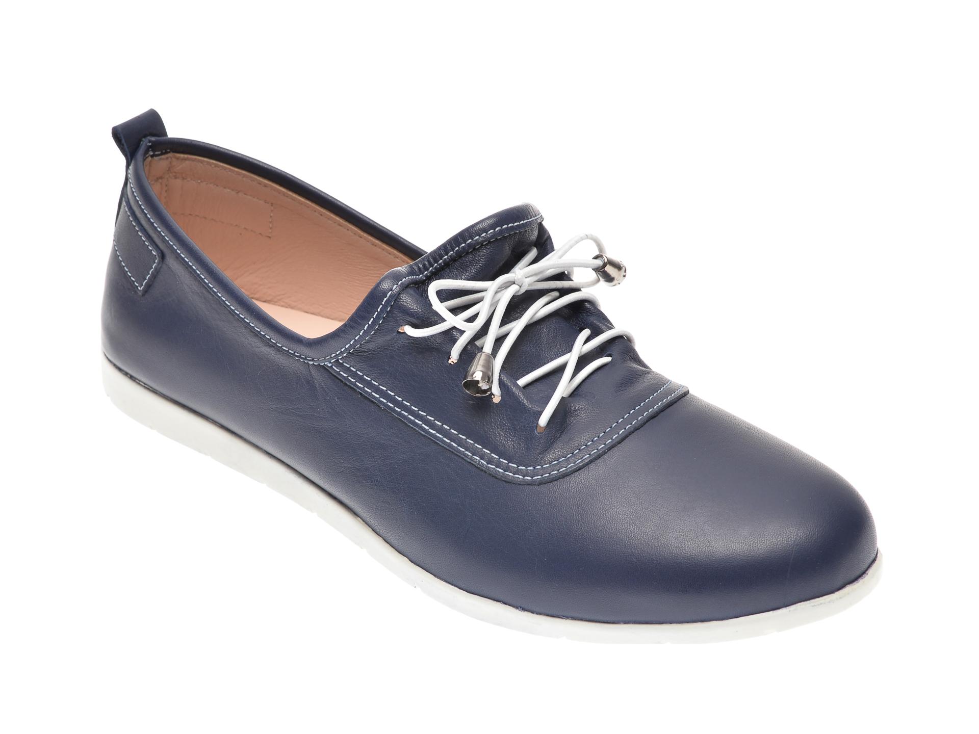 Pantofi ECLIPSE bleumarin, 408, din piele naturala imagine