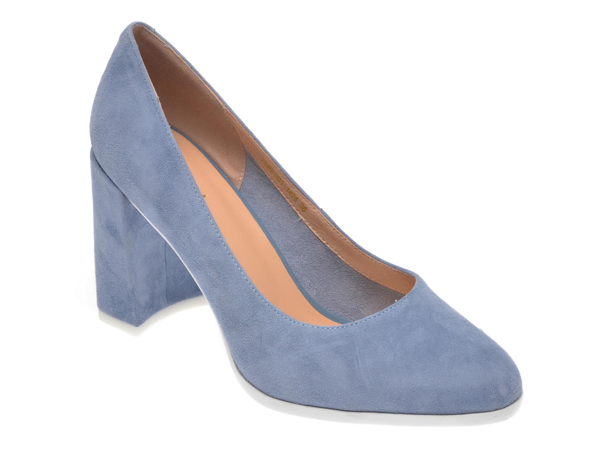 Pantofi EPICA albastri, 7545301, din piele intoarsa imagine