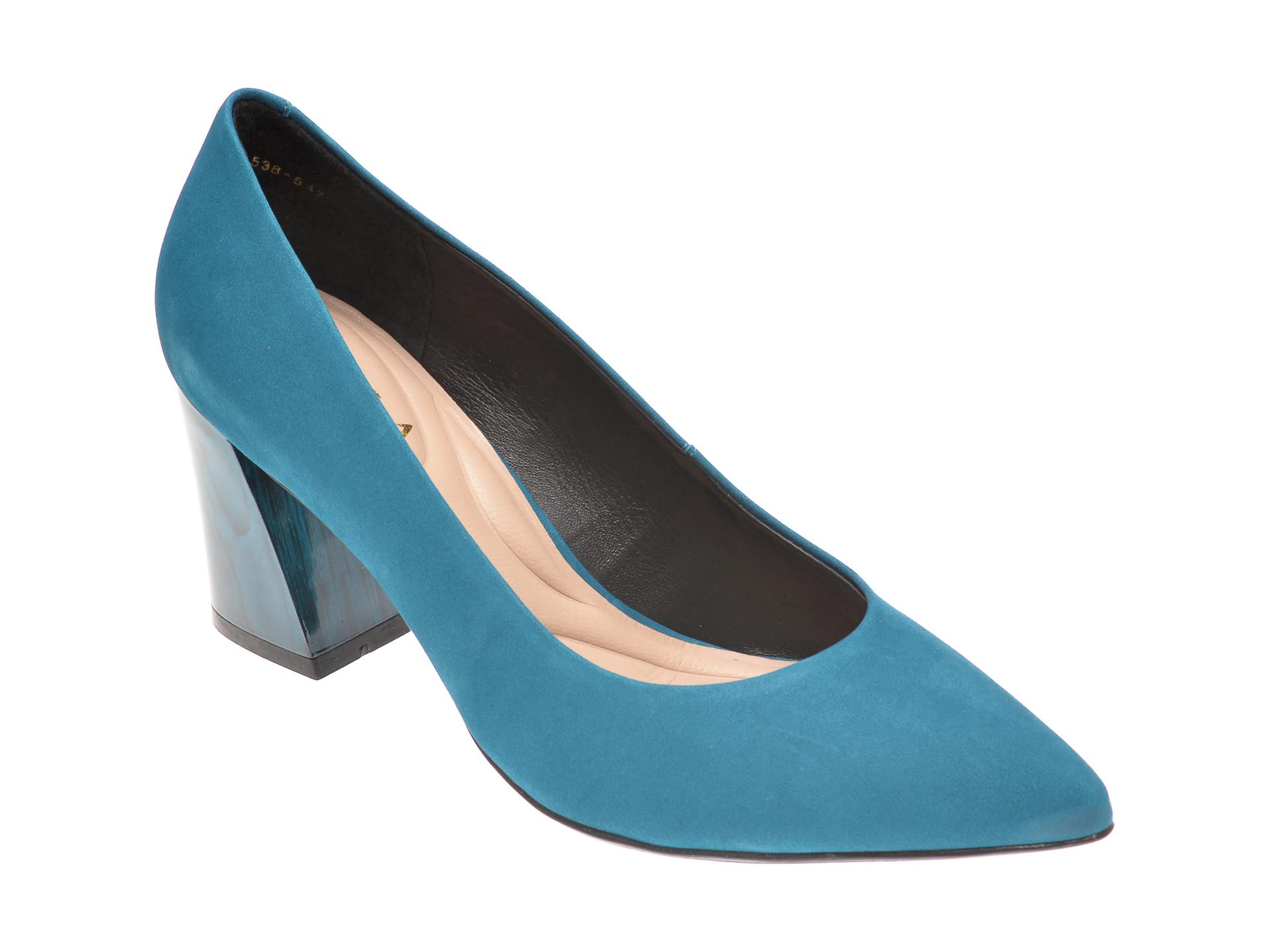 Pantofi EPICA albastri, 9288538, din nabuc imagine otter.ro