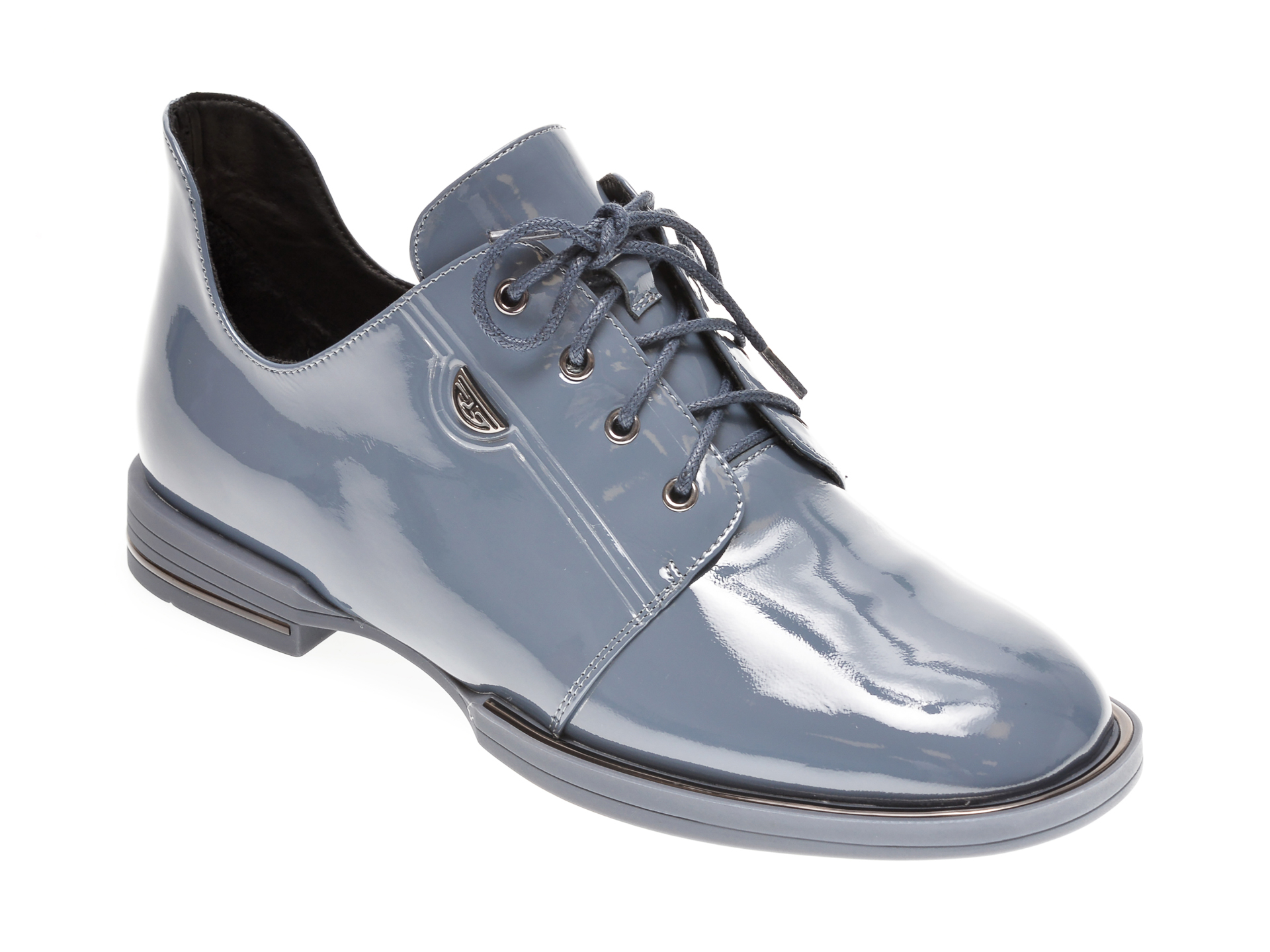 Pantofi EPICA albastri, 98333, din piele naturala lacuita