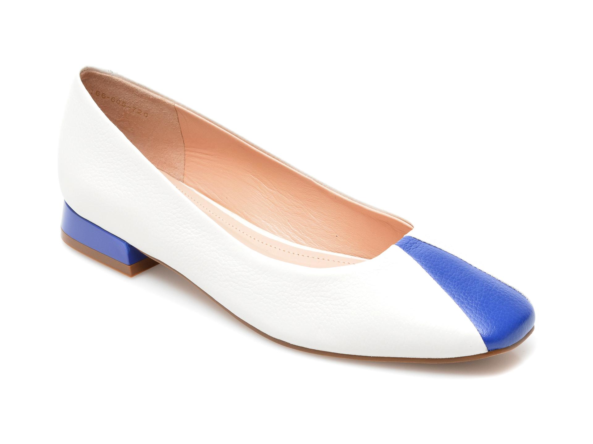 Pantofi EPICA albi, 1006720, din piele naturala imagine otter.ro