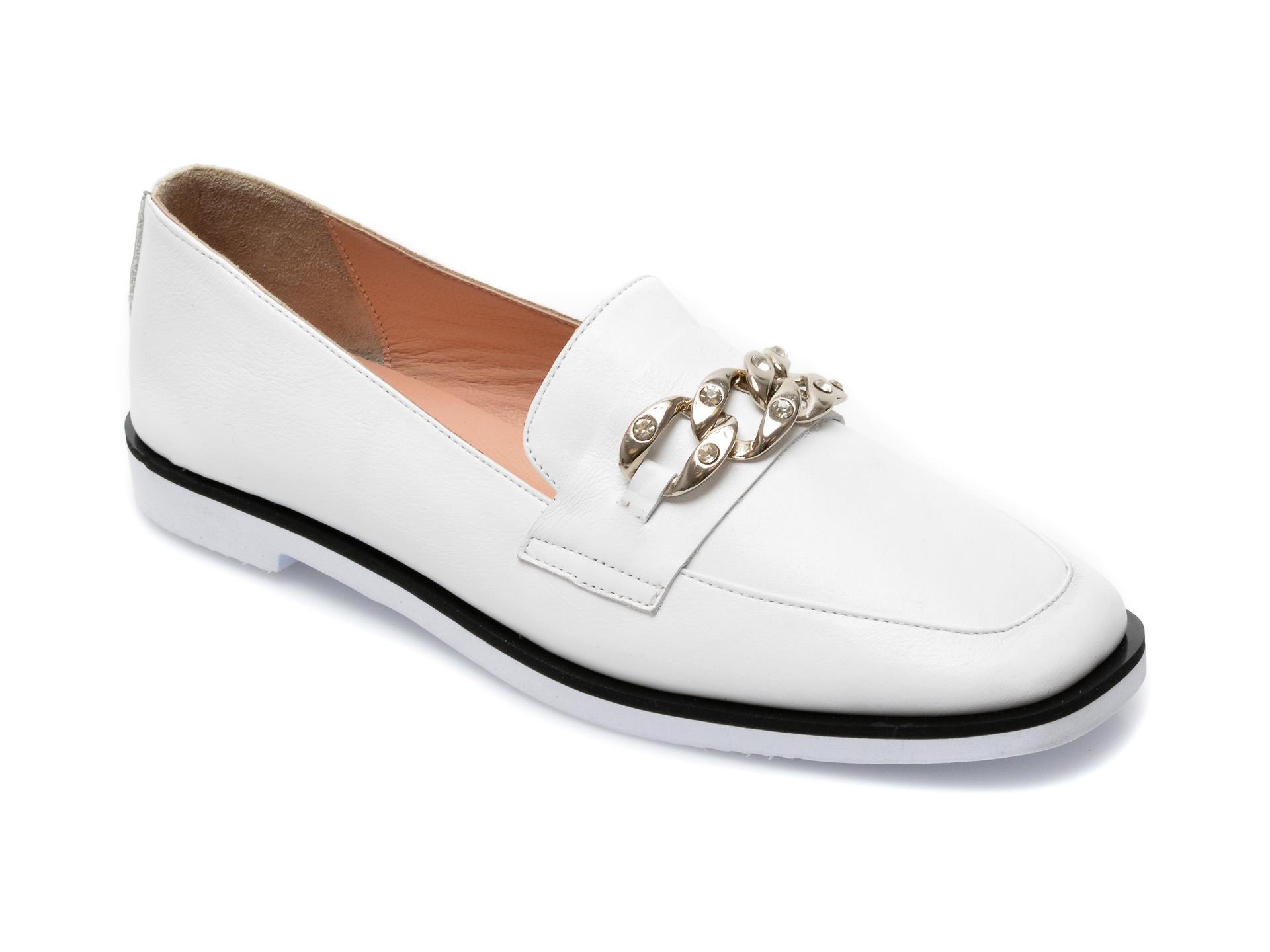 Pantofi EPICA albi, 3094203, din piele naturala imagine otter.ro 2021